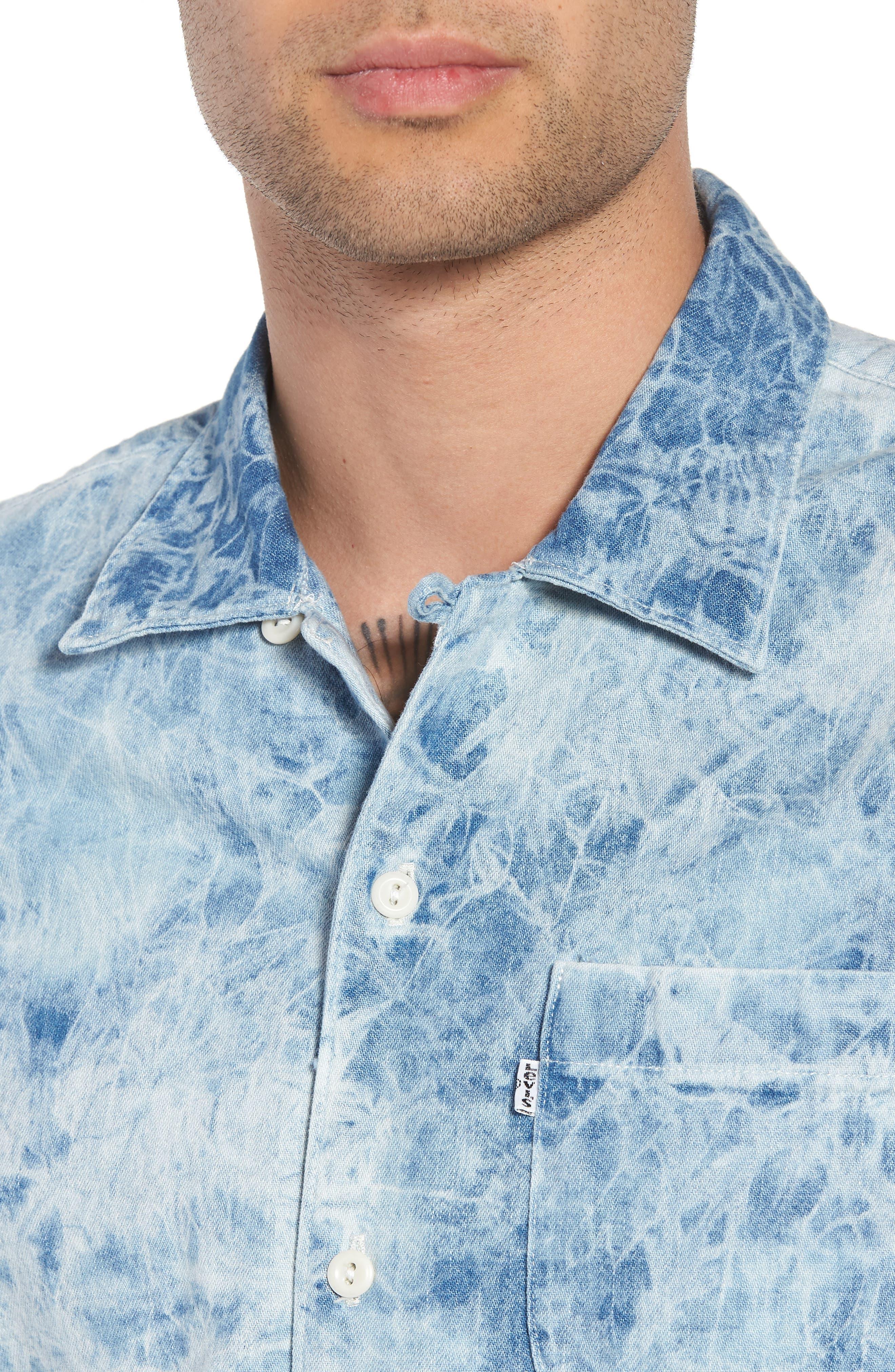 Hawaiian Shirt,                             Alternate thumbnail 2, color,                             Spider Bleach