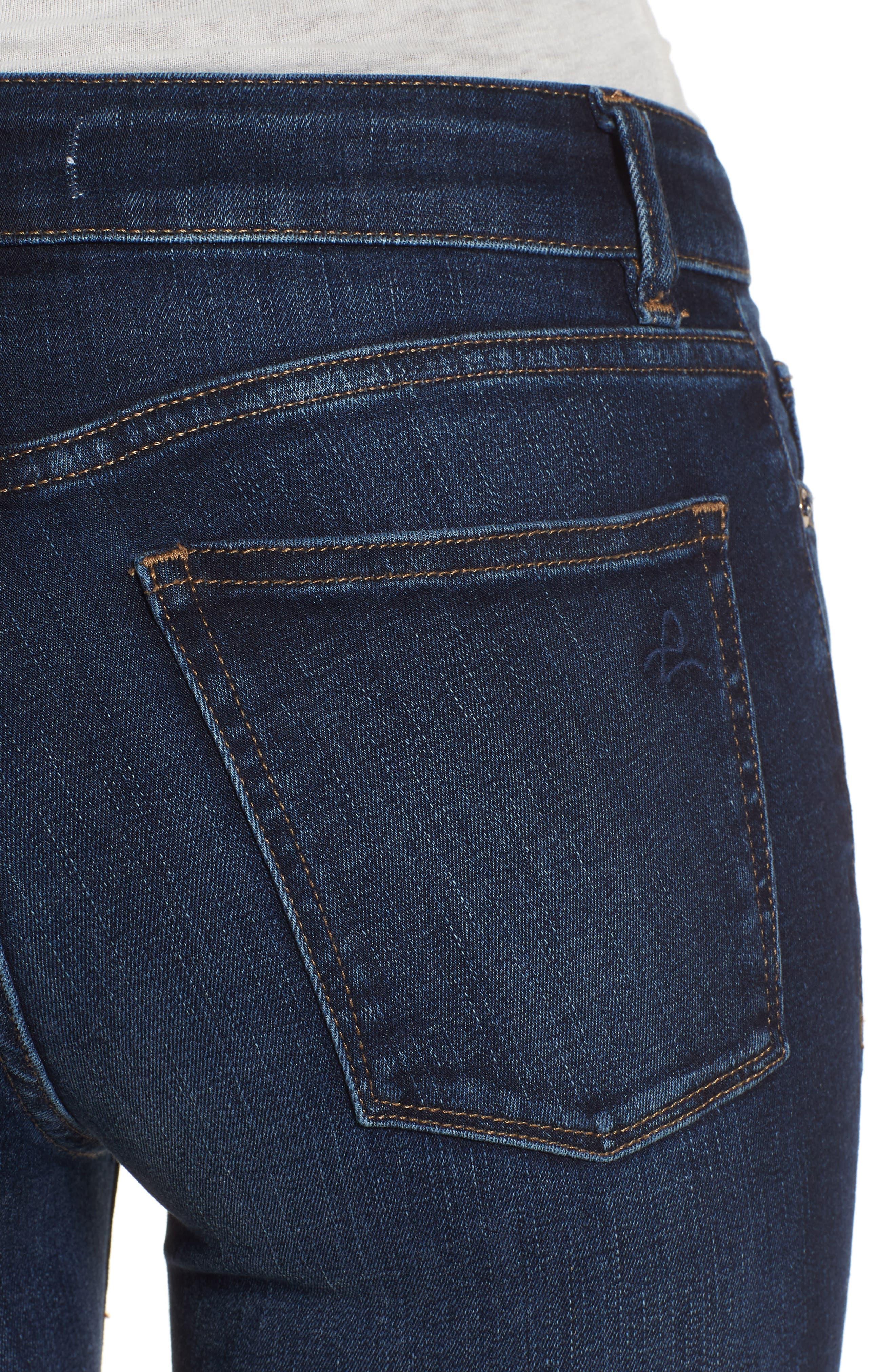 Florence Instasculpt Crop Skinny Jeans,                             Alternate thumbnail 4, color,                             Ralston
