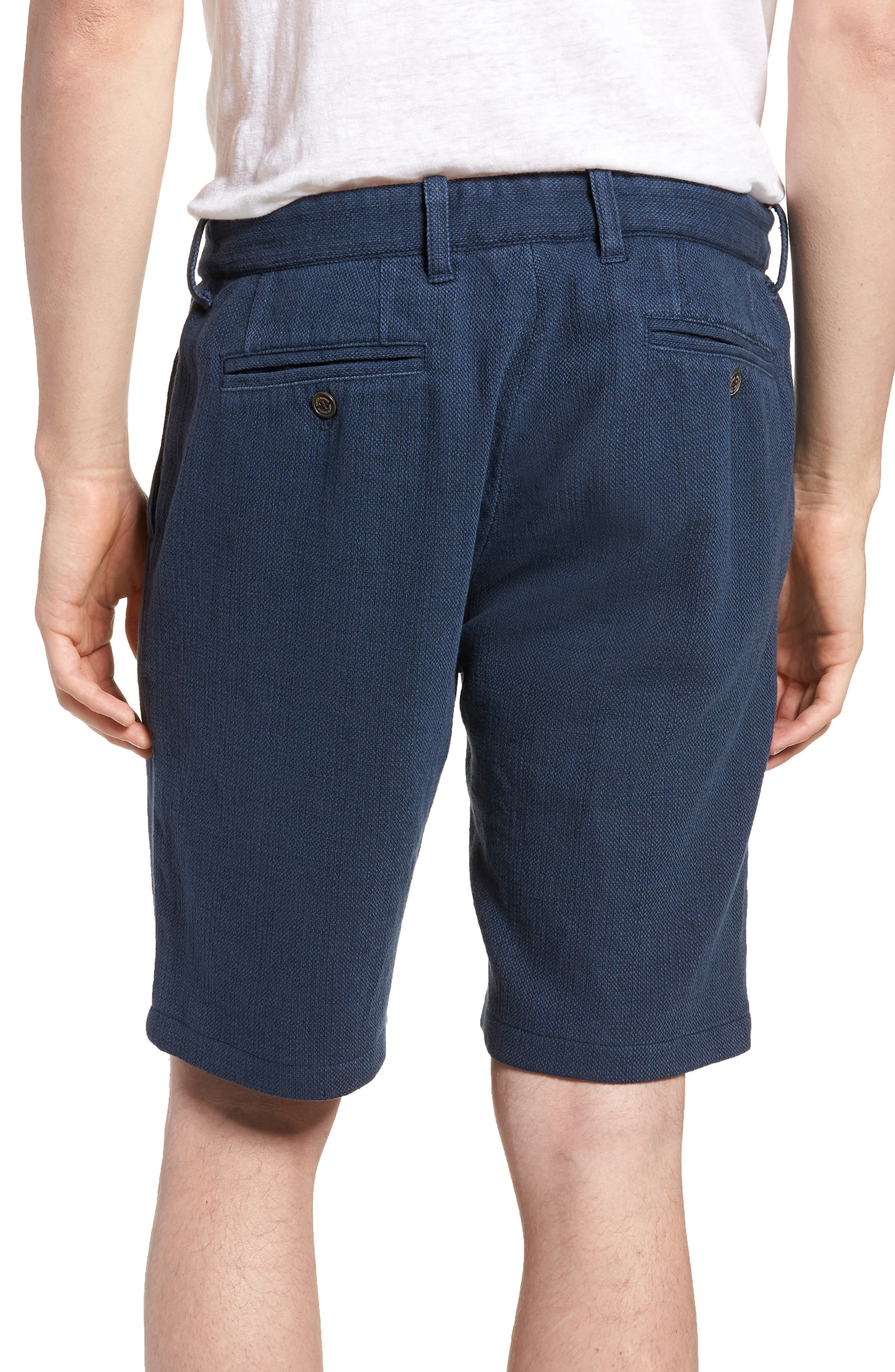 Thomas Regular Fit Pleated Shorts,                             Alternate thumbnail 2, color,                             Blue