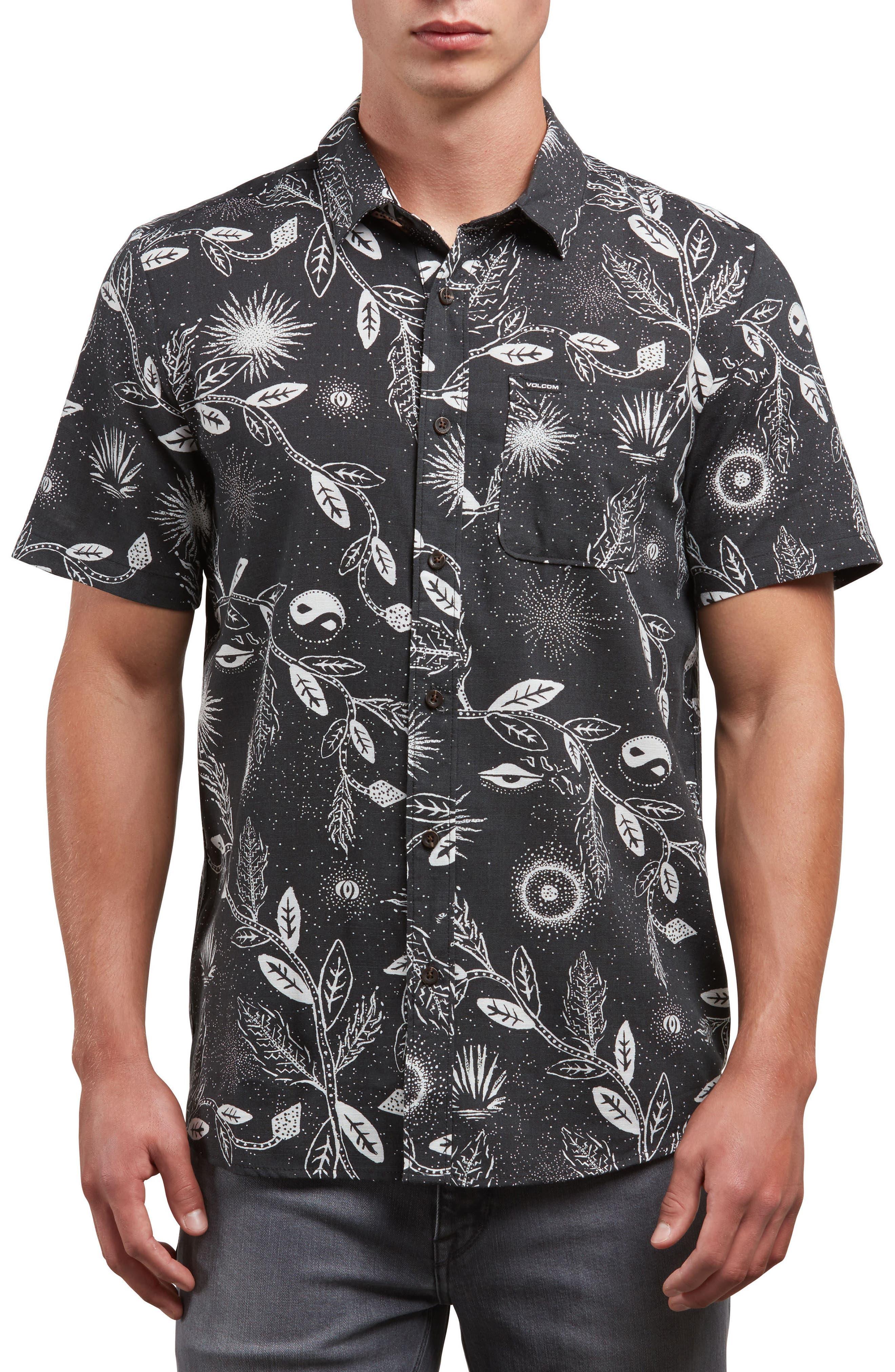 Broha Woven Shirt,                             Main thumbnail 1, color,                             Black
