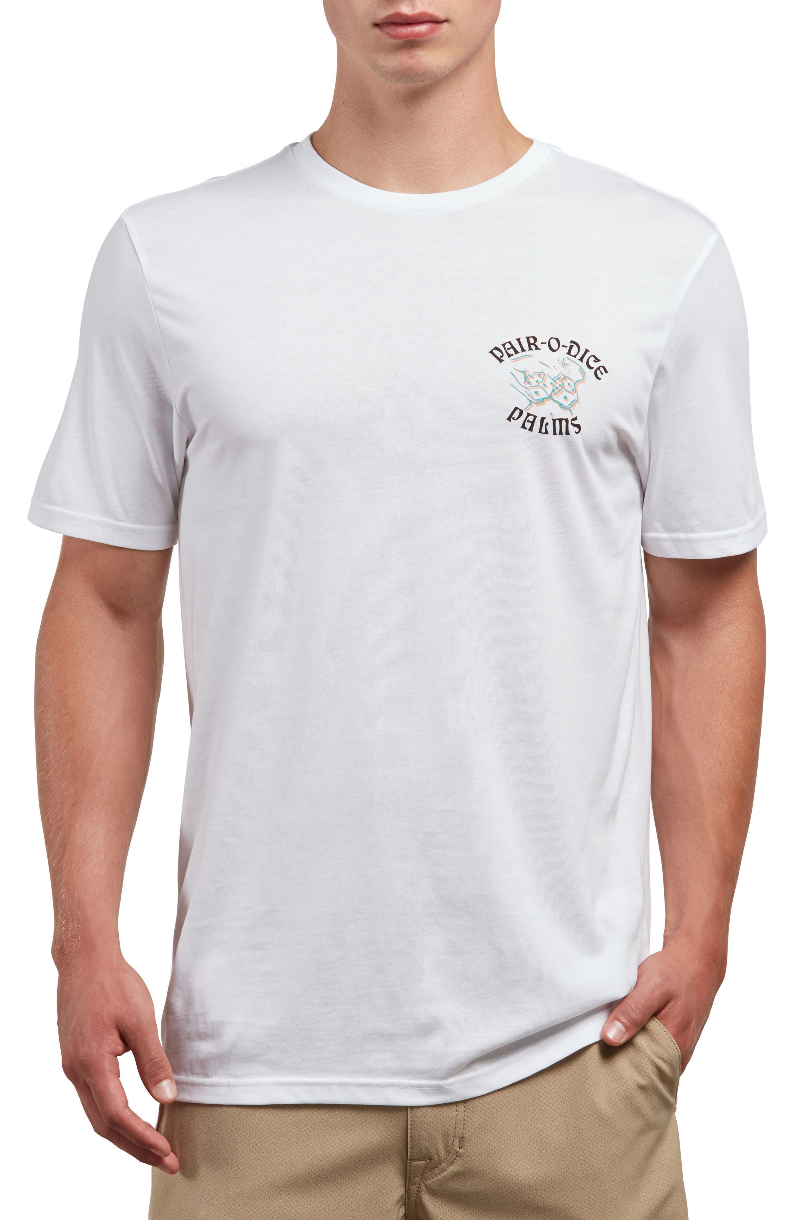 Pair-O-Dice T-Shirt,                             Main thumbnail 1, color,                             White