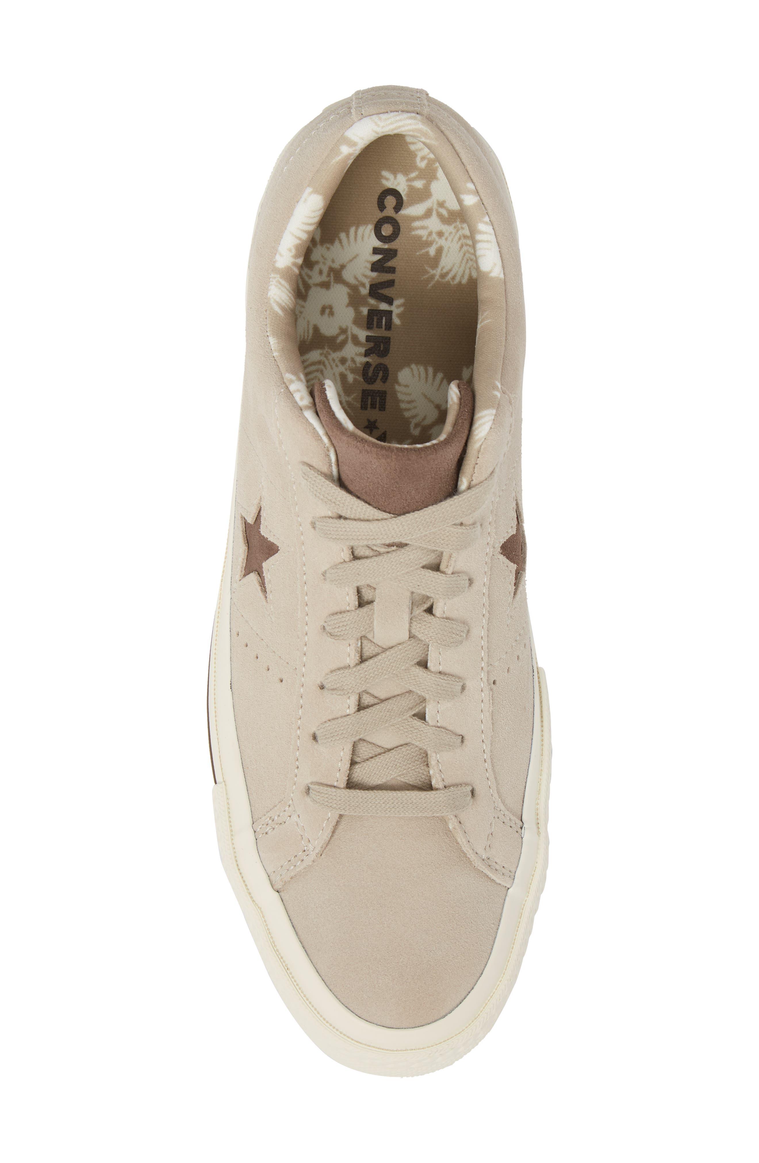 One-Star Tropical Sneaker,                             Alternate thumbnail 5, color,                             Khaki Suede
