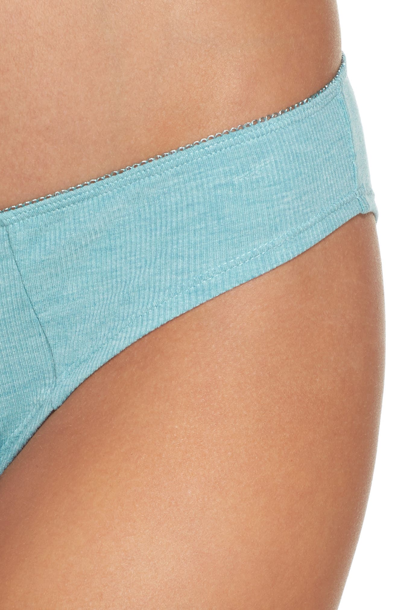 Rib Knit Bikini,                             Alternate thumbnail 4, color,                             Prickly Pear