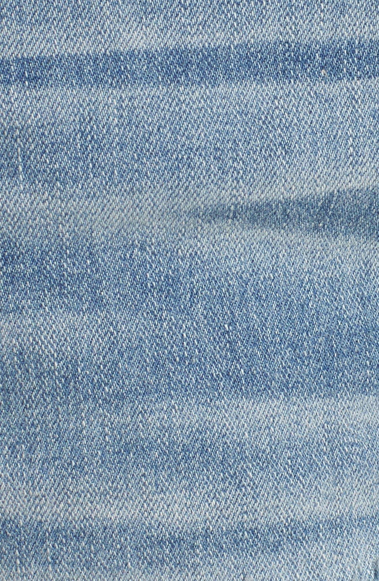 Marley Denim Shorts,                             Alternate thumbnail 6, color,                             Light Wash