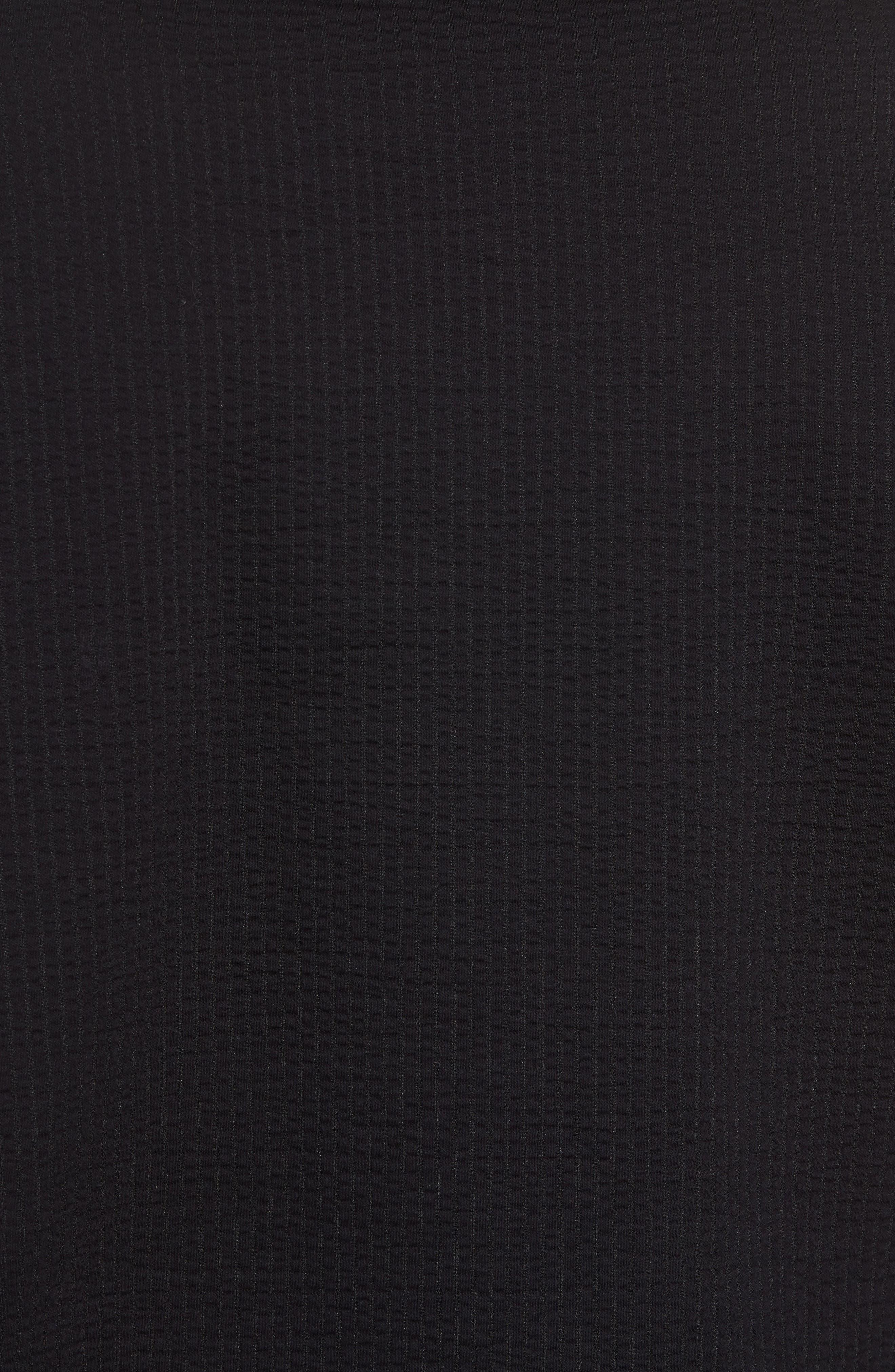 Japanese Seersucker T-Shirt,                             Alternate thumbnail 5, color,                             Black Seersucker