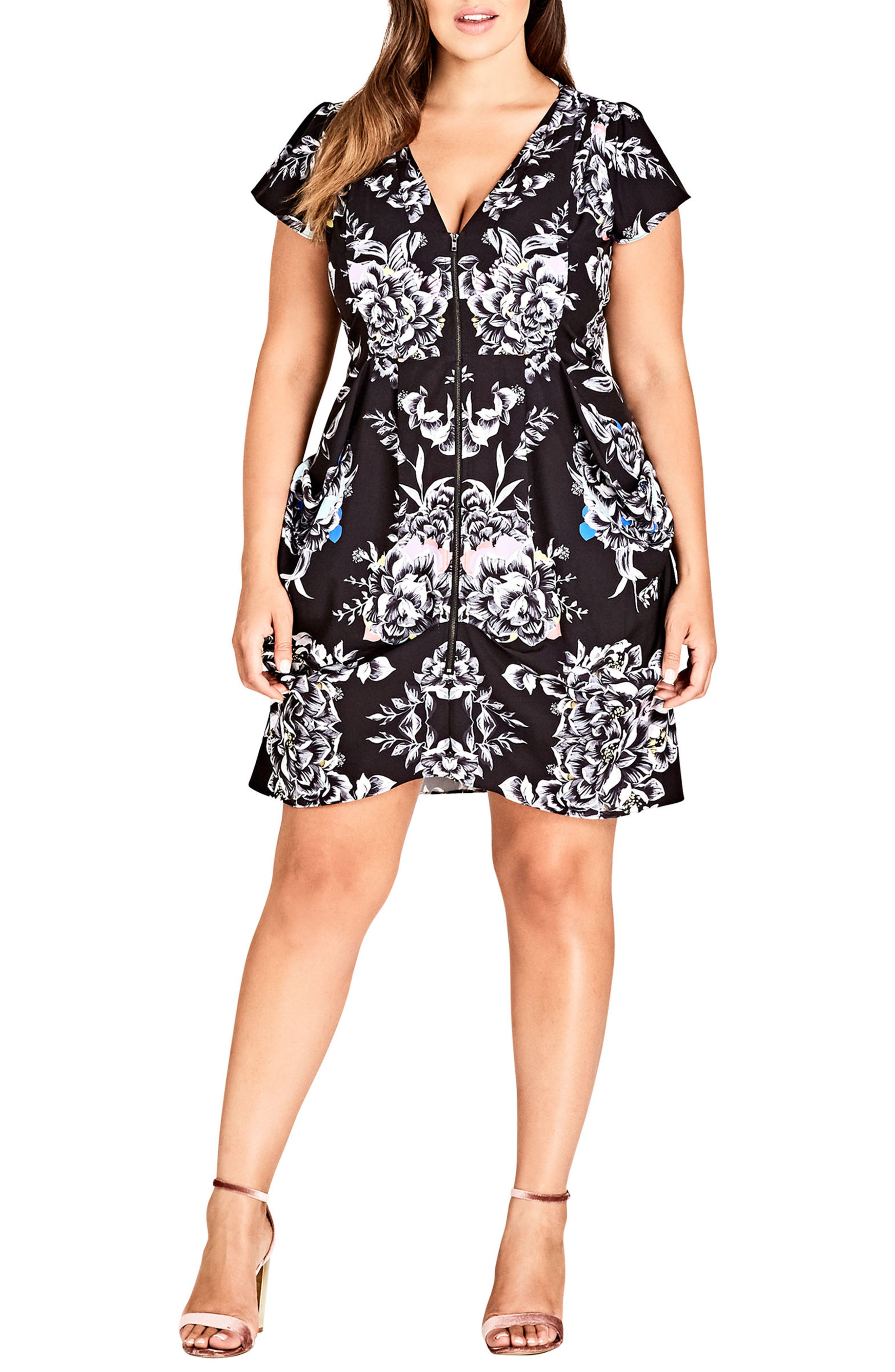 Main Image - City Chic Mirror Power Dress (Plus Size)