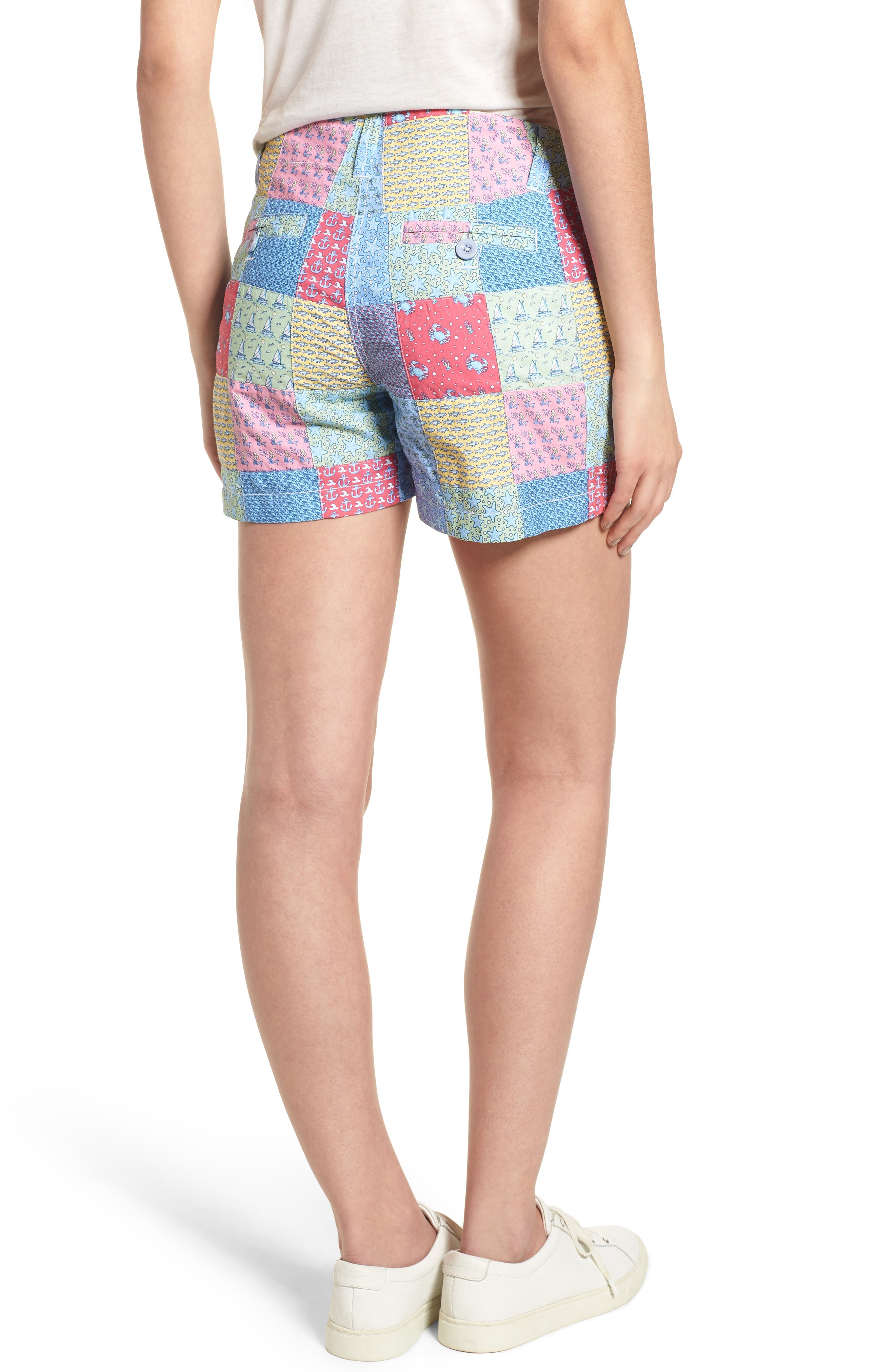 Patchwork Everyday Shorts,                             Alternate thumbnail 2, color,                             Sailors Red