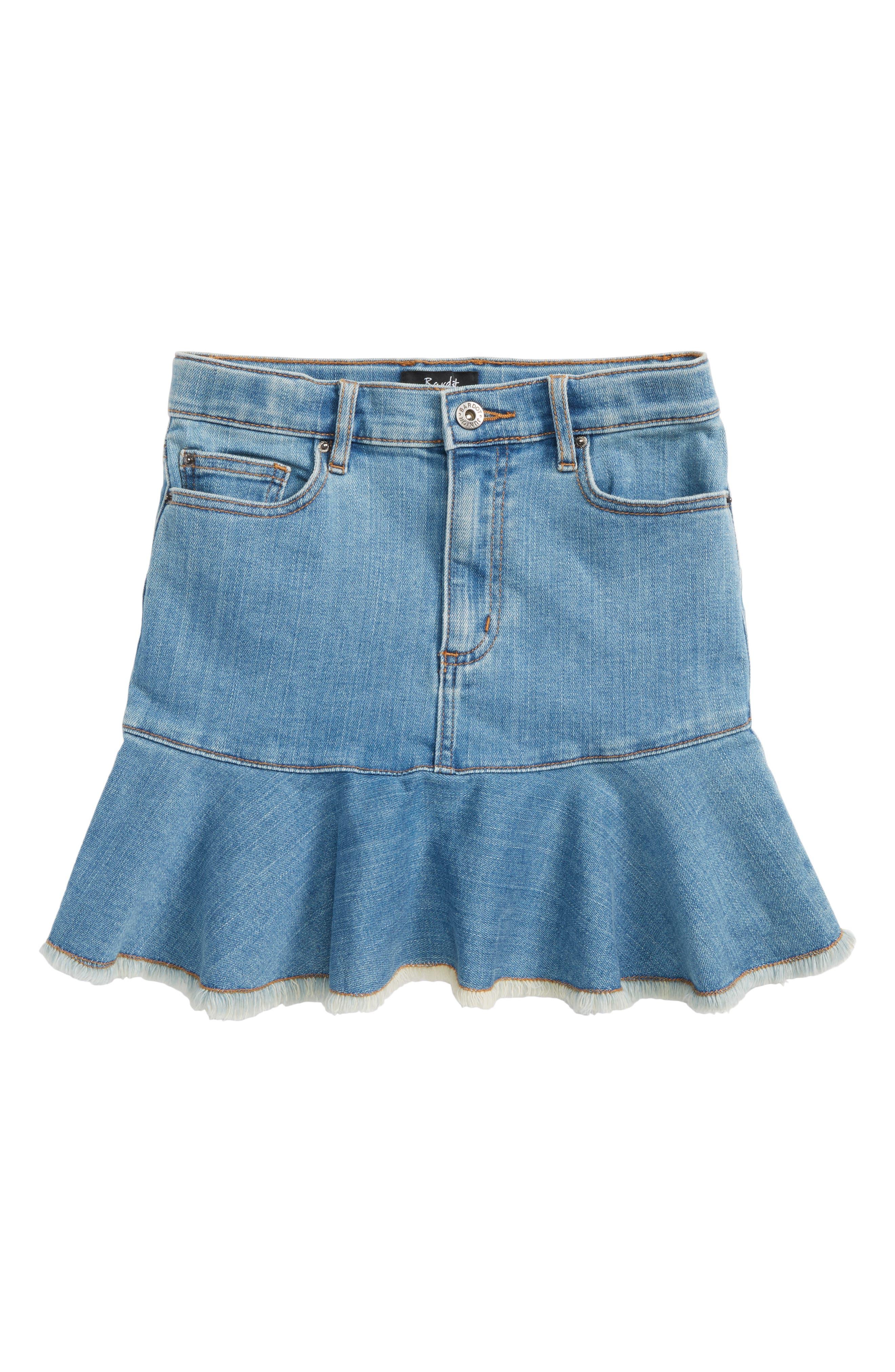 Mia Denim Skirt,                             Main thumbnail 1, color,                             Vintage Wash
