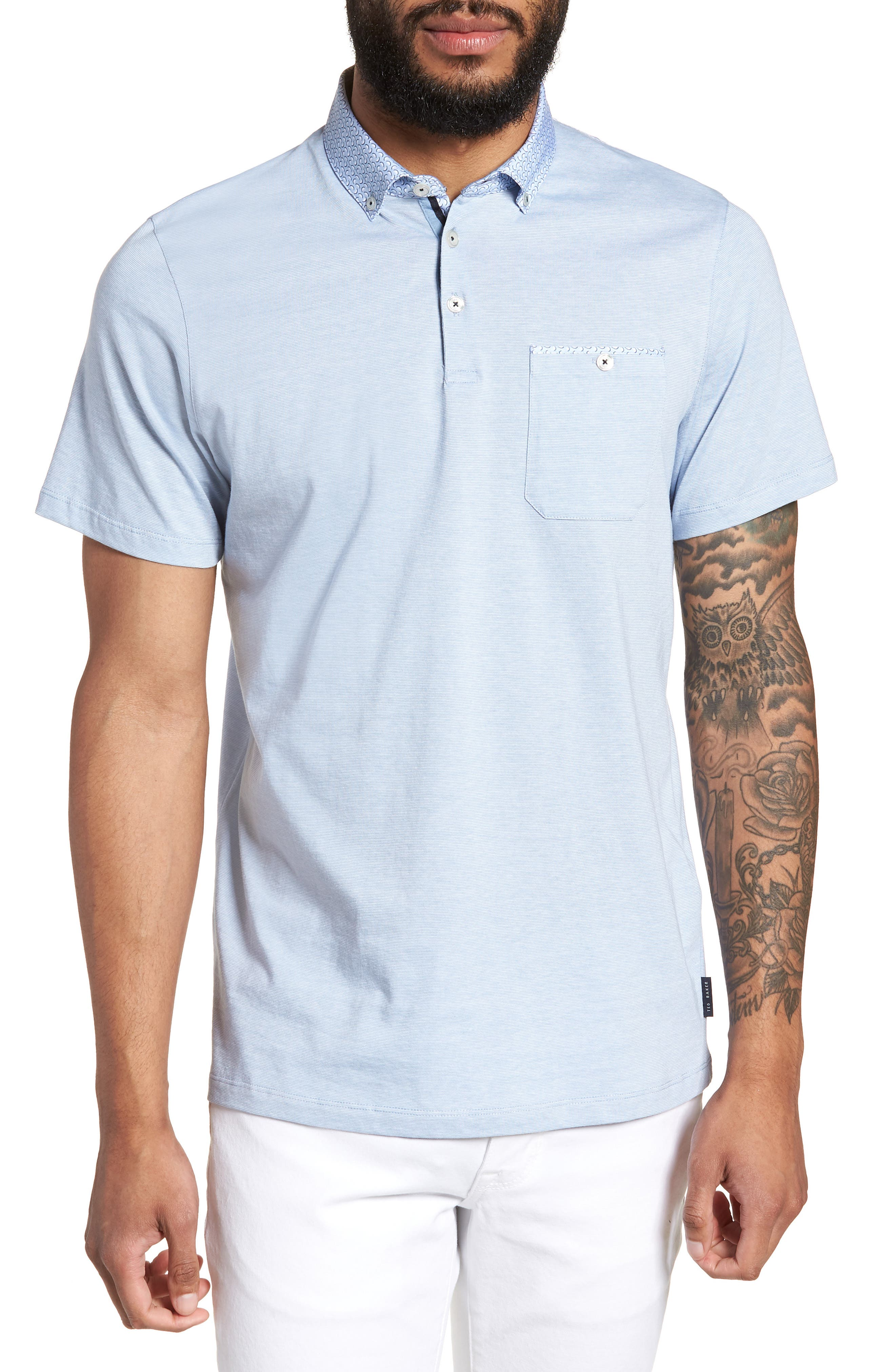 Ted Baker London Bloc Apple Print Polo