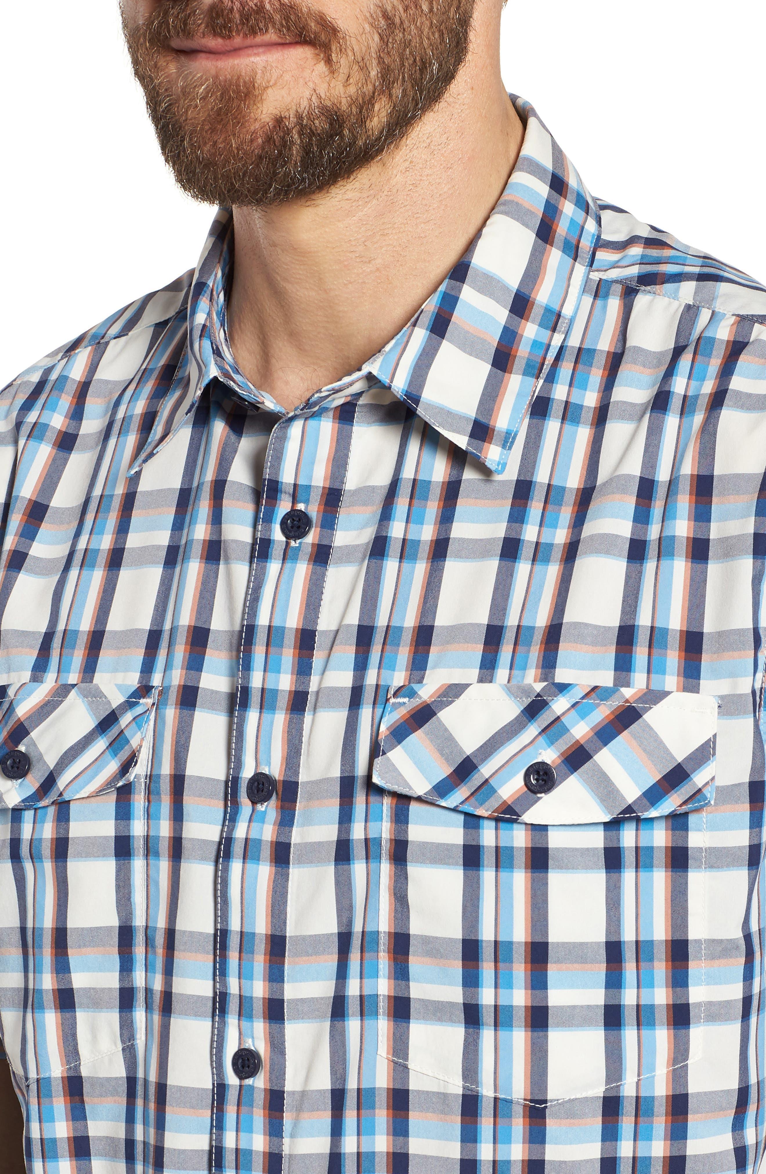 High Moss Regular Fit Short Sleeve Sport Shirt,                             Alternate thumbnail 2, color,                             Anchor/ Birch White