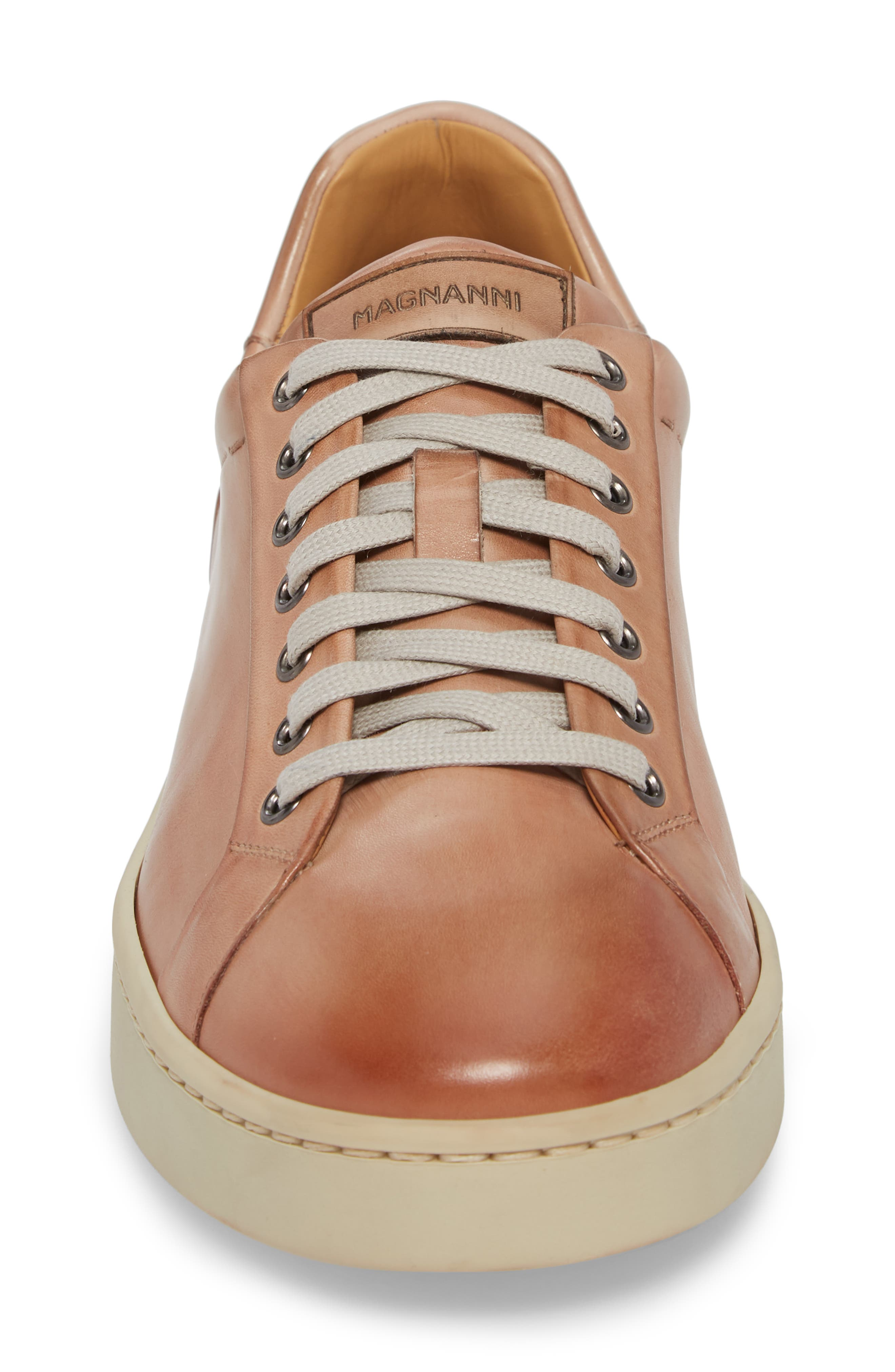 Elonso Low Top Sneaker,                             Alternate thumbnail 4, color,                             Rosa Leather