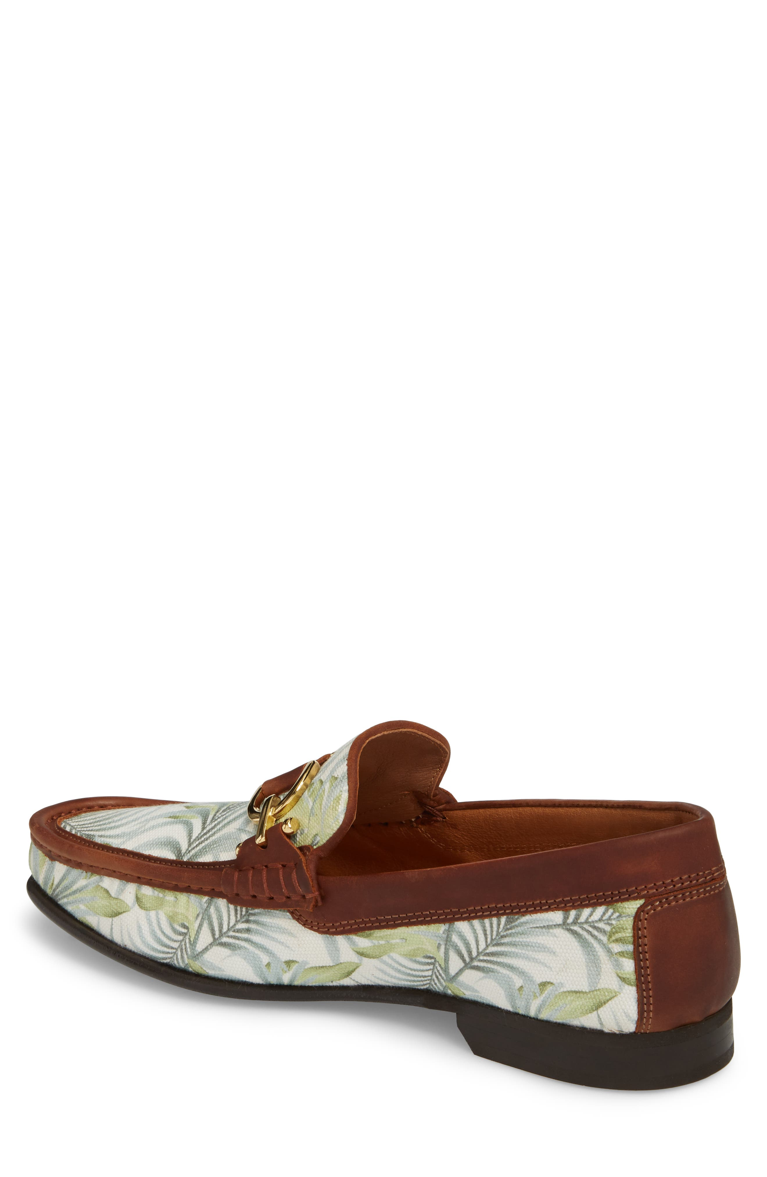 Dacio Loafer,                             Alternate thumbnail 2, color,                             Leaf Printed Canvas
