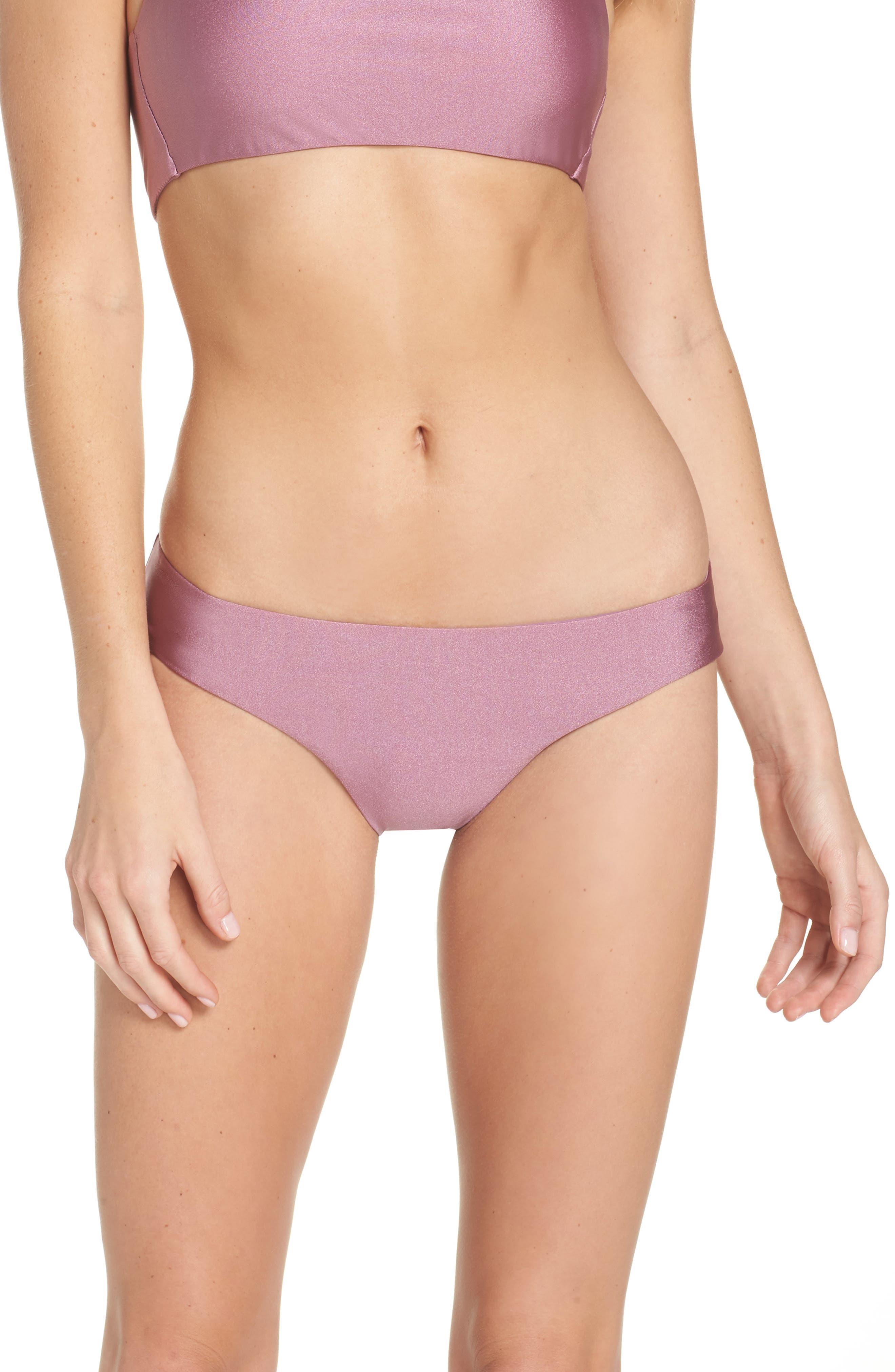 Ballerina Bikini Bottoms,                         Main,                         color, Mauve