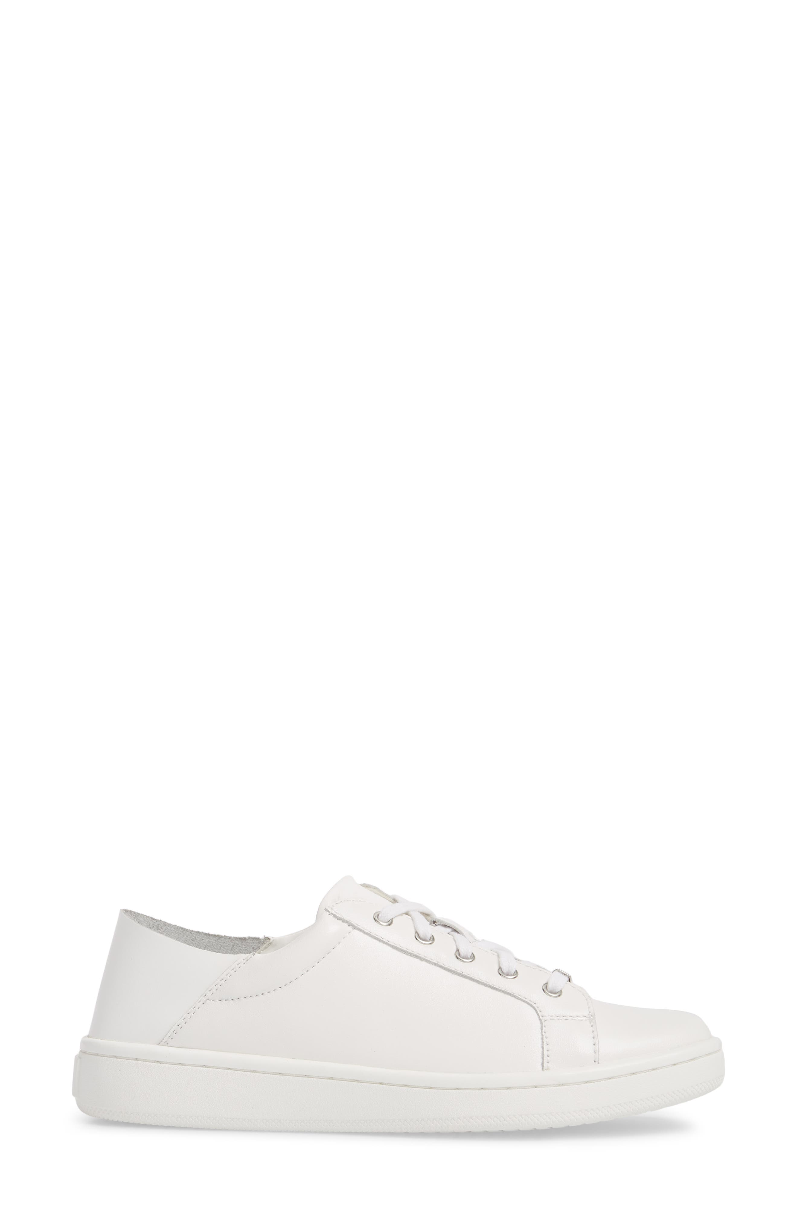 Danica Convertible Sneaker,                             Alternate thumbnail 4, color,                             White/ White Leather