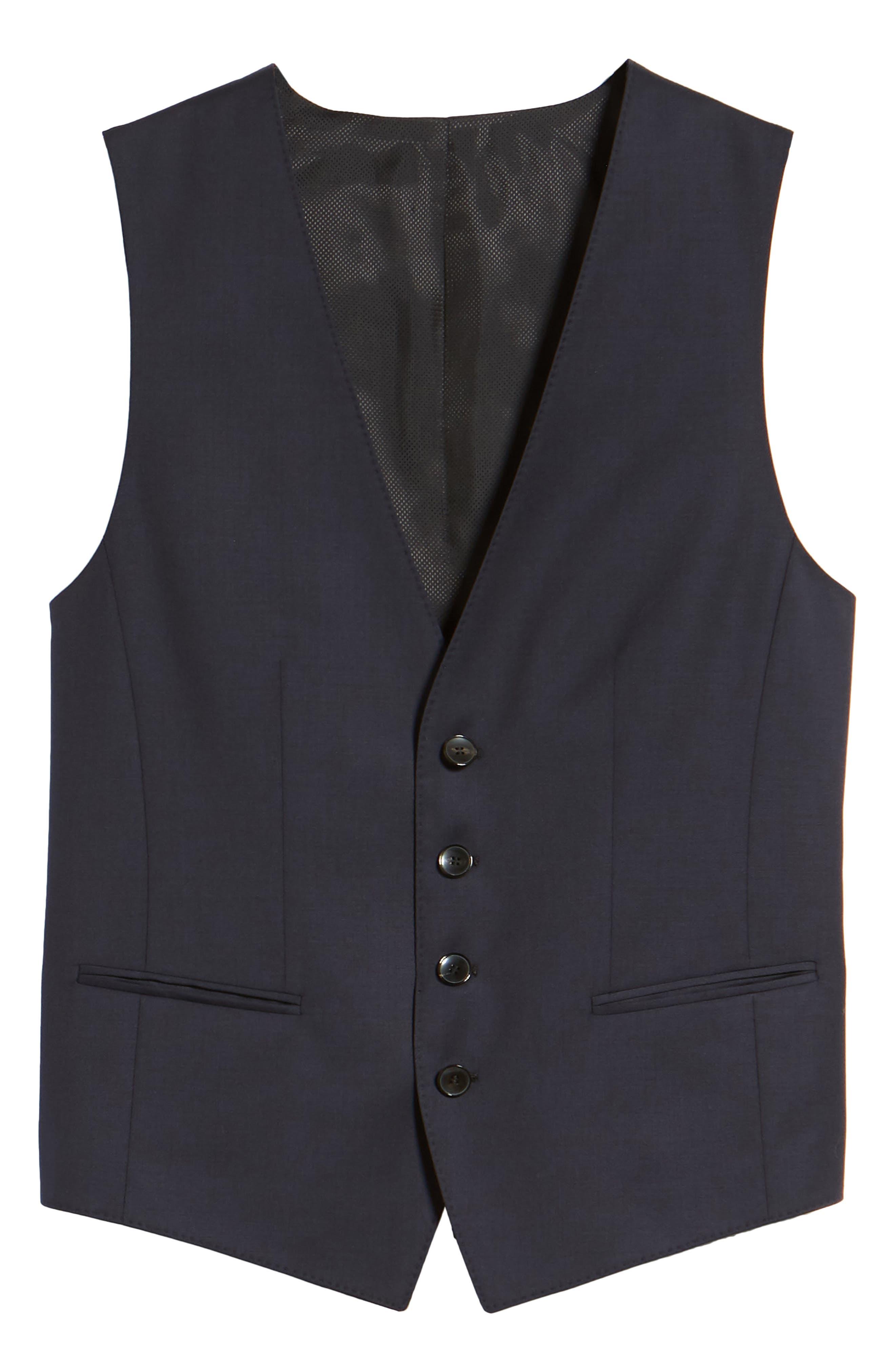 Wilson CYL Trim Fit Vest,                             Alternate thumbnail 6, color,                             Dark Blue