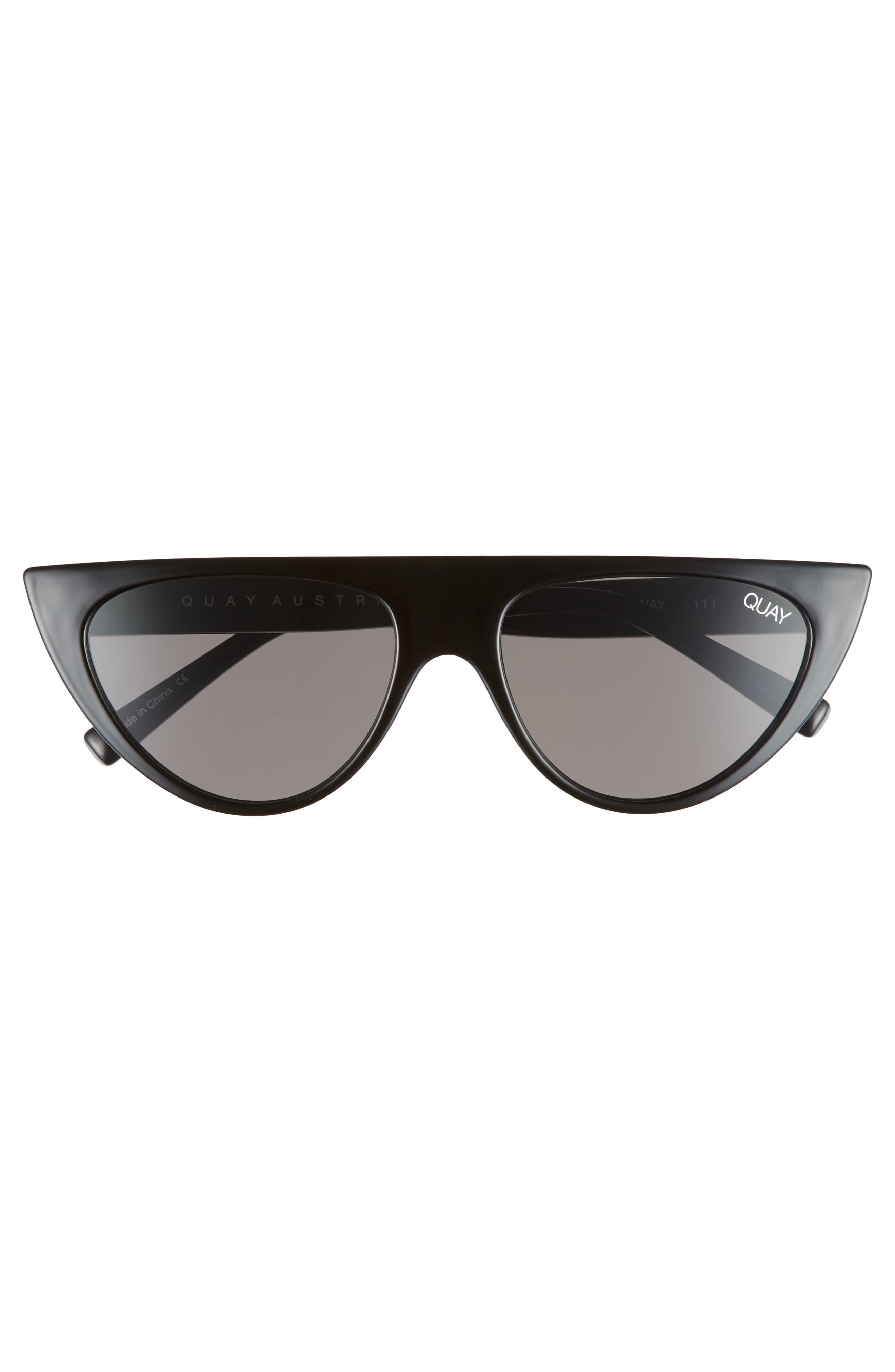 Run Away 56mm Shield Sunglasses,                             Alternate thumbnail 3, color,                             Black/ Smoke