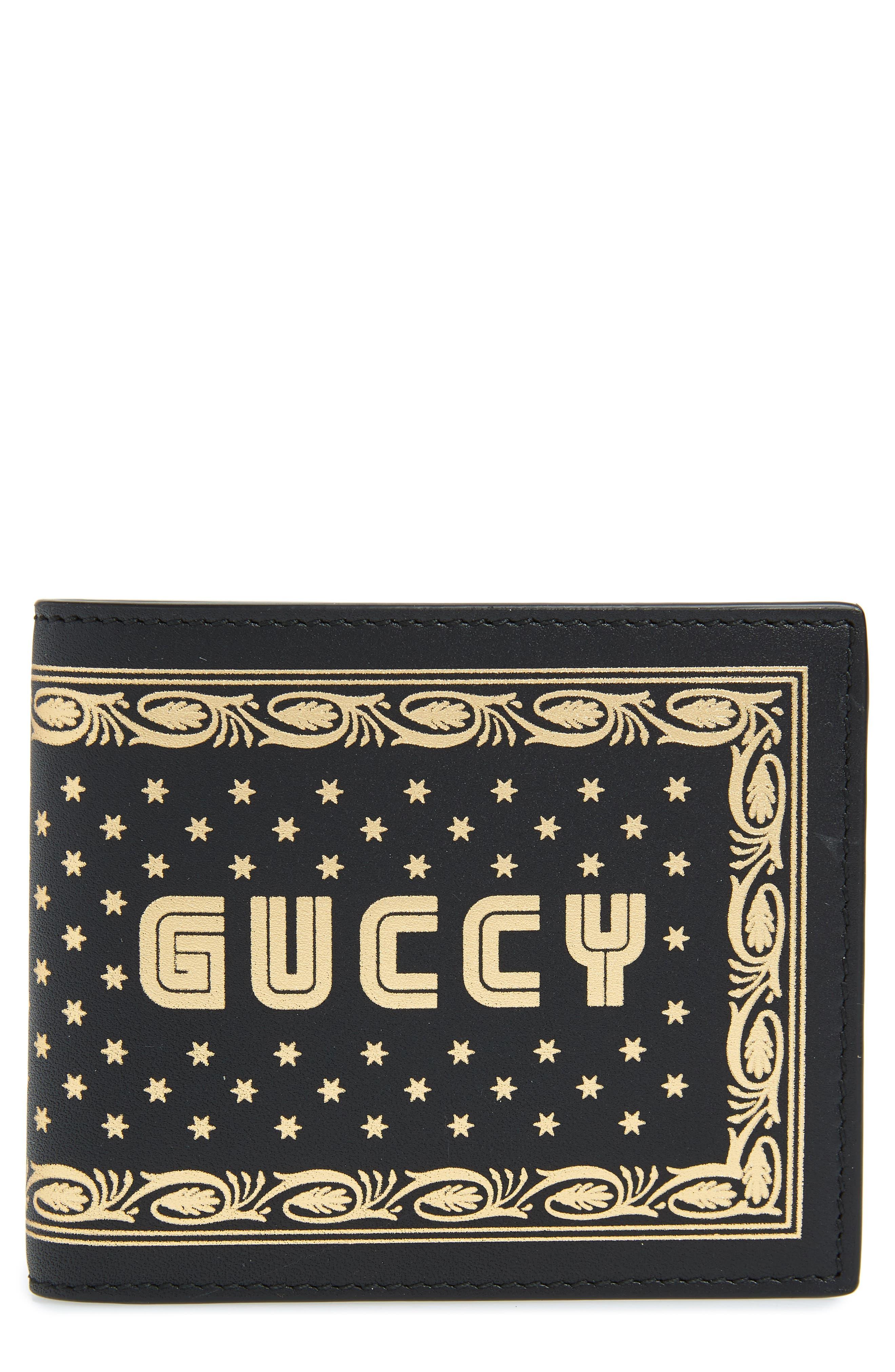 Print Leather Wallet,                         Main,                         color, Light Beige