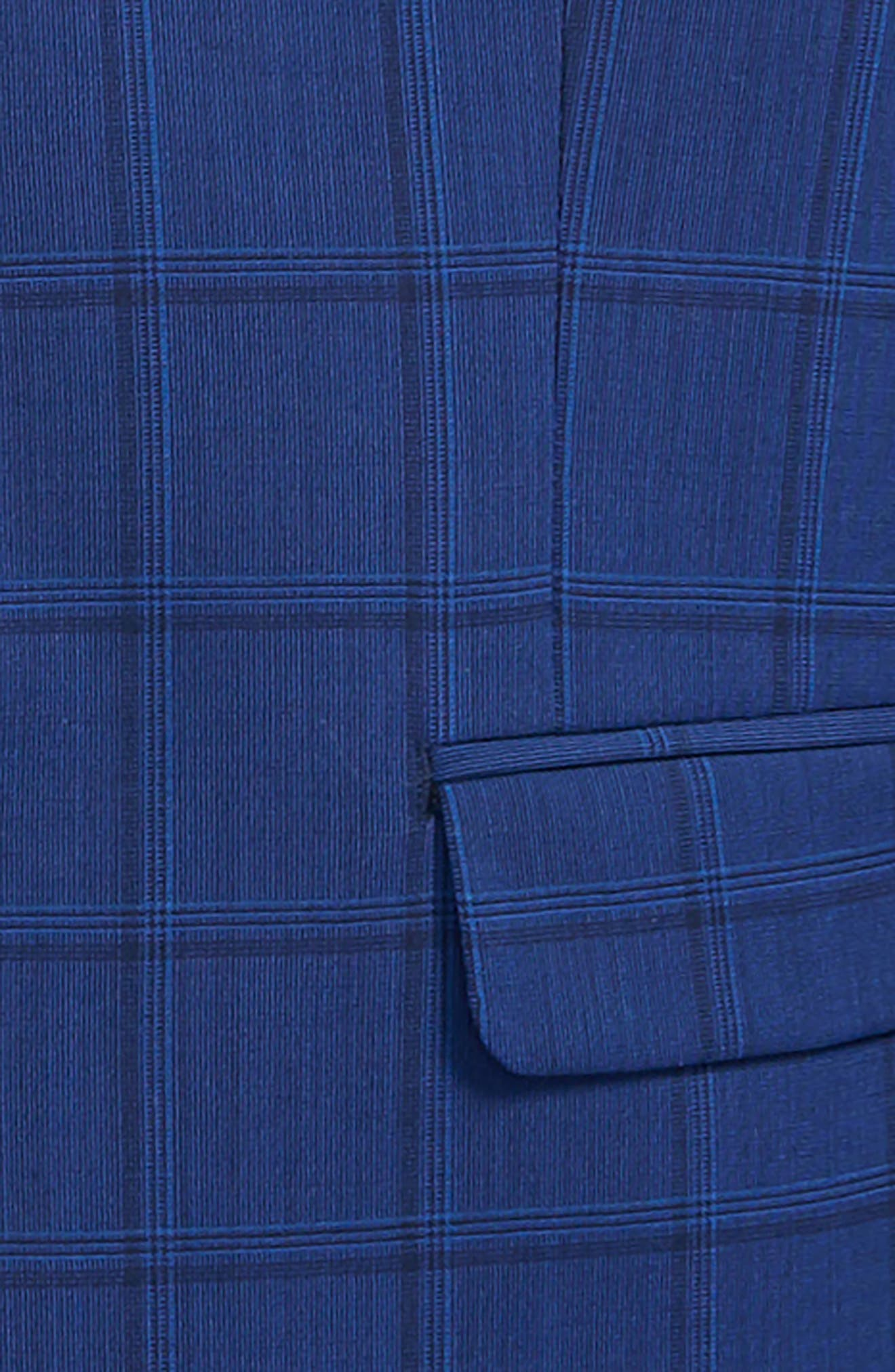 Windowpane Wool Suit,                             Alternate thumbnail 2, color,                             Blue