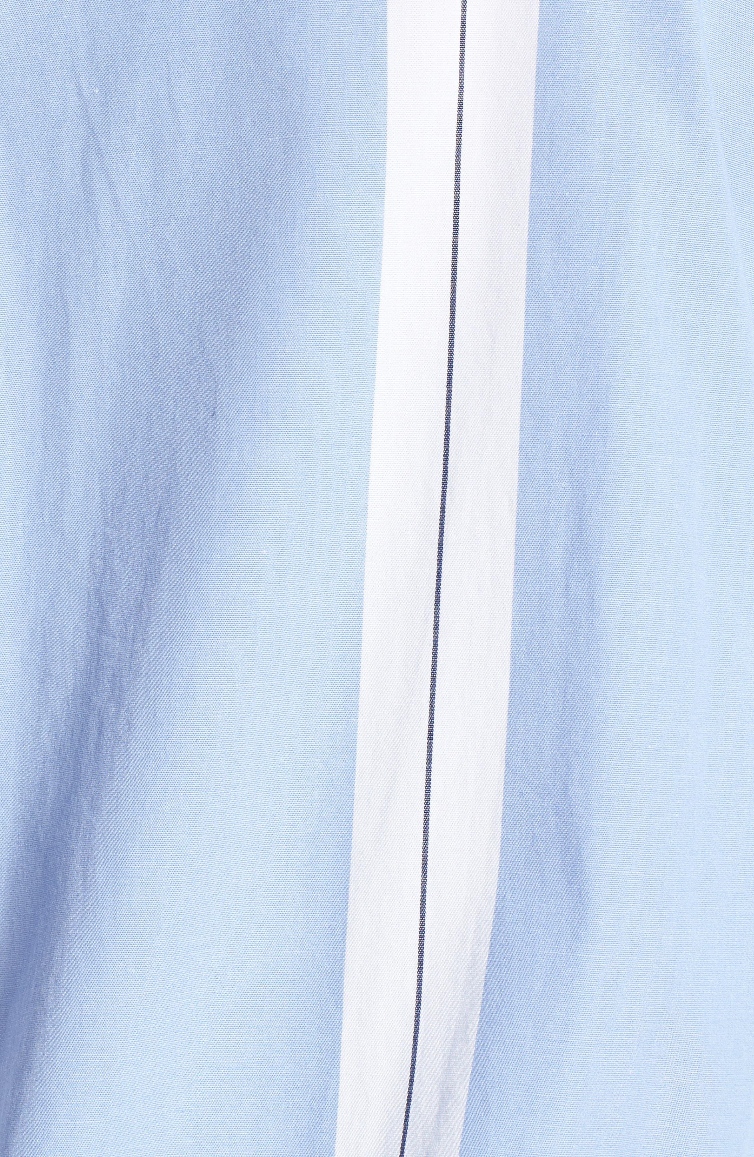 Adele Blouson Top,                             Alternate thumbnail 6, color,                             Bright White/ Cornflower Blue