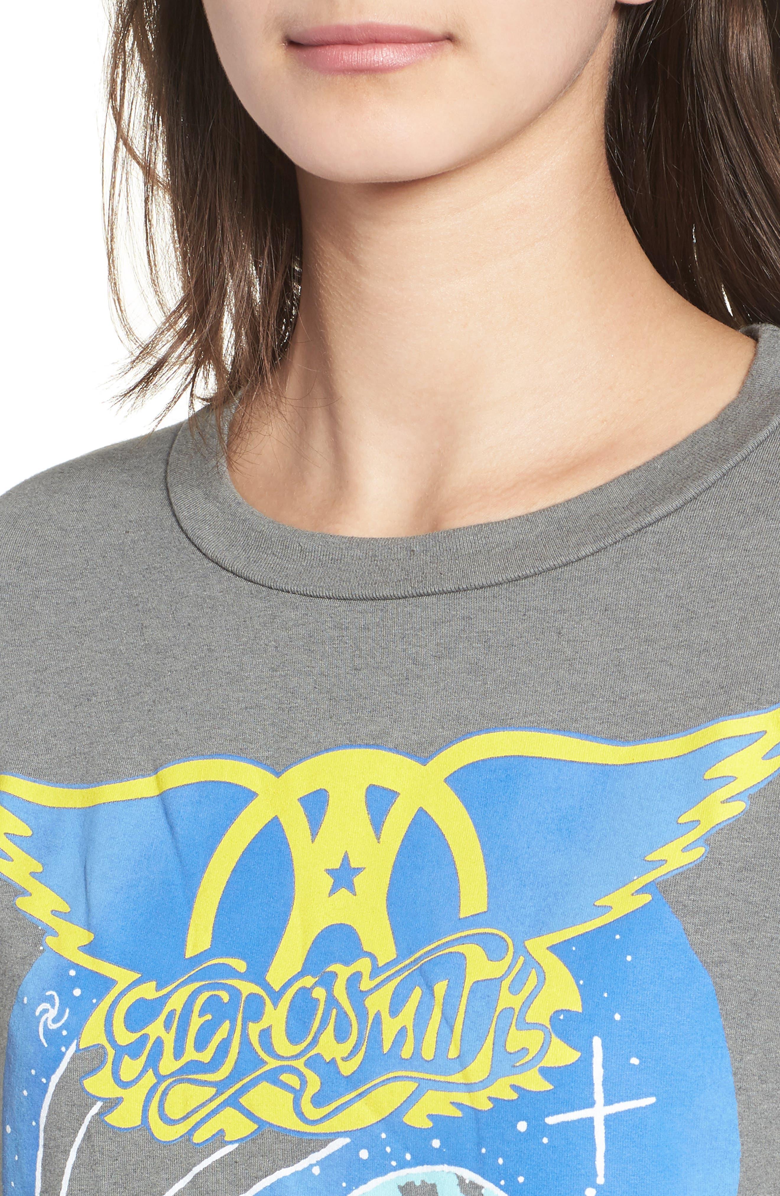 Aerosmith Sweatshirt,                             Alternate thumbnail 4, color,                             Clay
