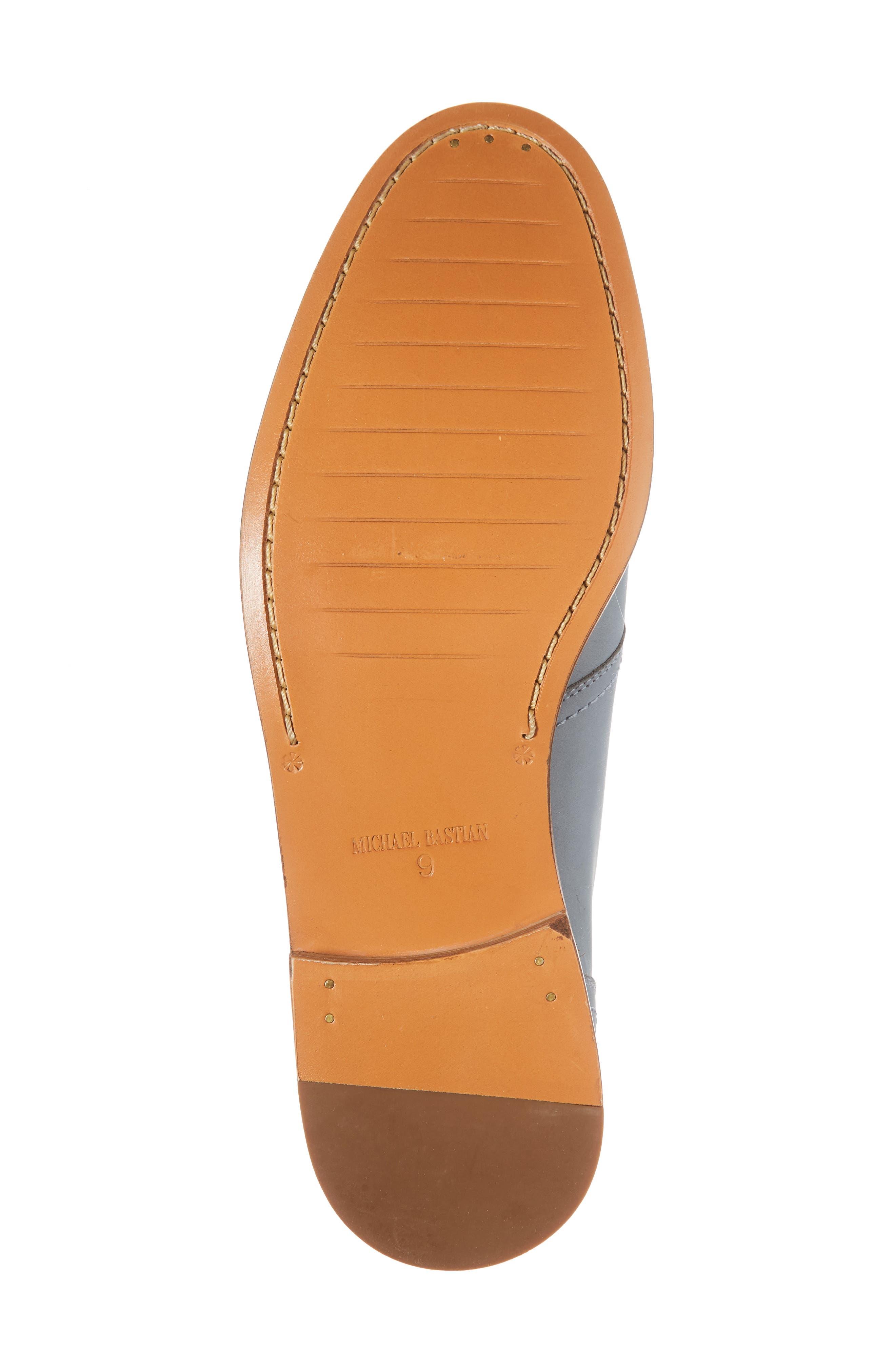 Caan Plain Toe Derby,                             Alternate thumbnail 6, color,                             Flint Stone Leather