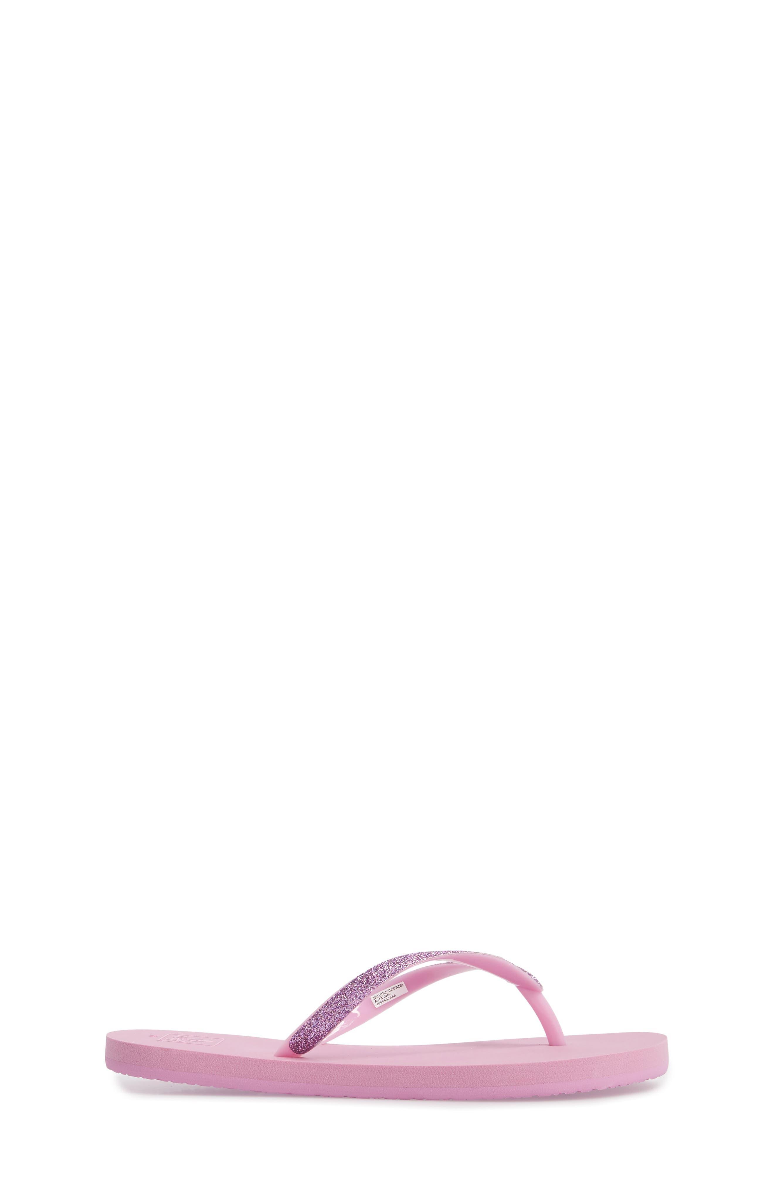 Little Stargazer Glitter Sandal,                             Alternate thumbnail 3, color,                             Lavender