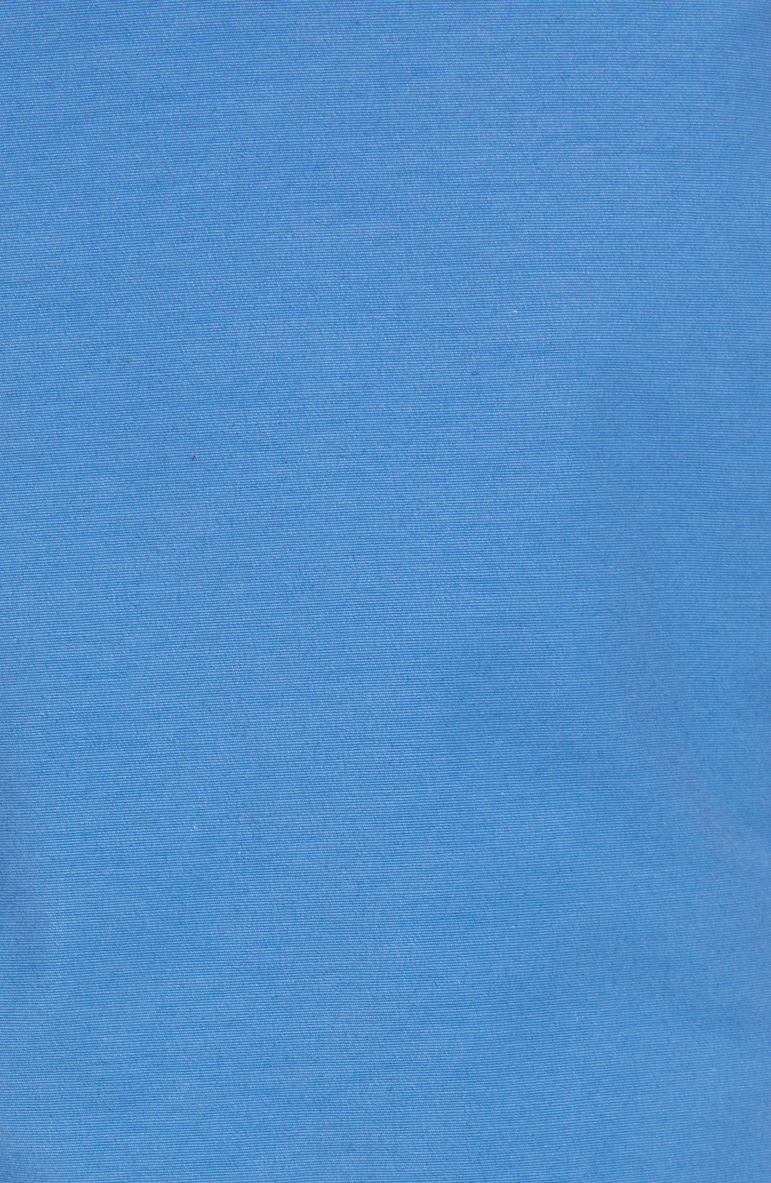 Stretch Cotton Blend Shorts,                             Alternate thumbnail 5, color,                             Delft