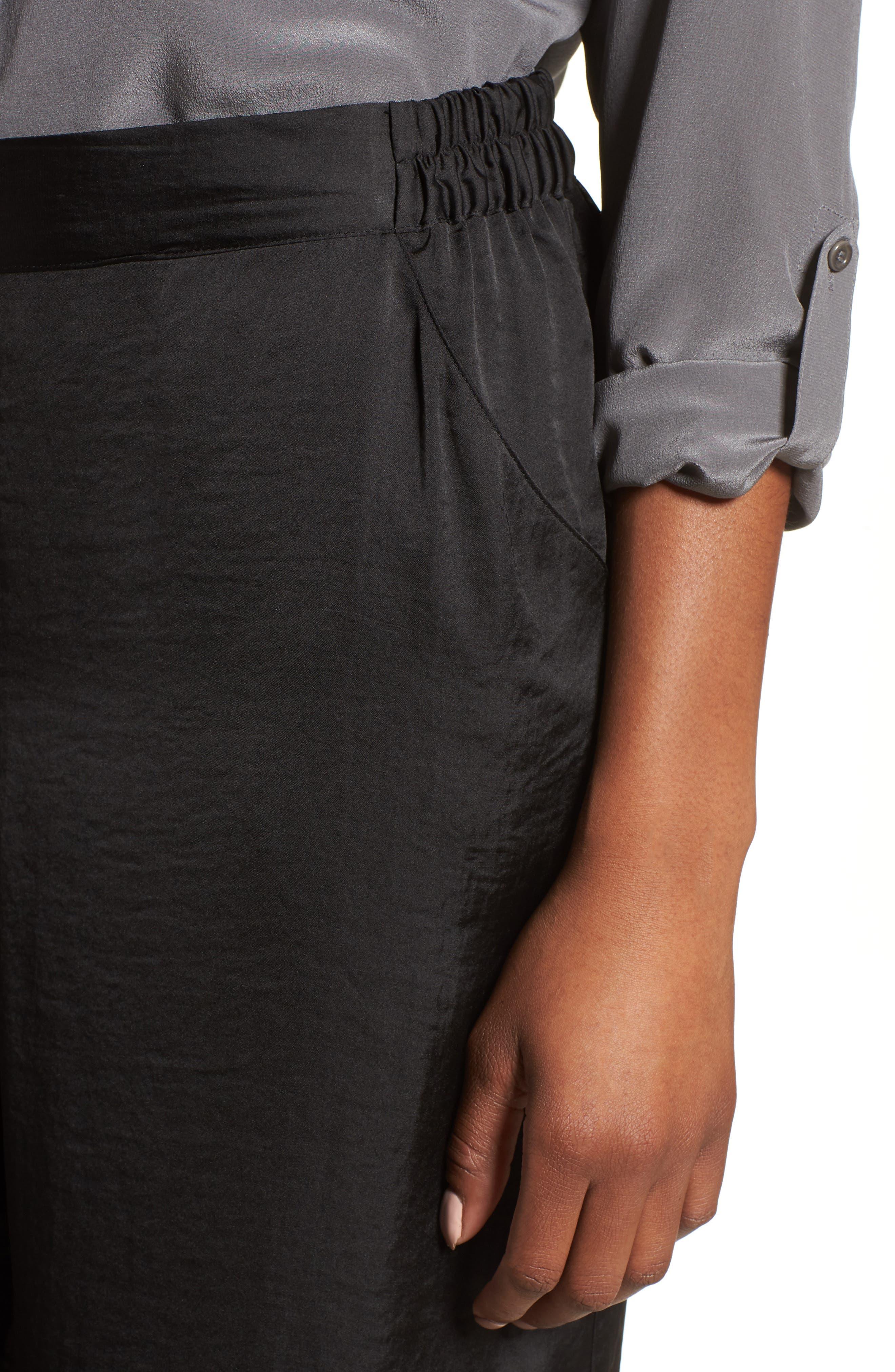 Kenneth Cole Wide Leg Pants,                             Alternate thumbnail 4, color,                             Black