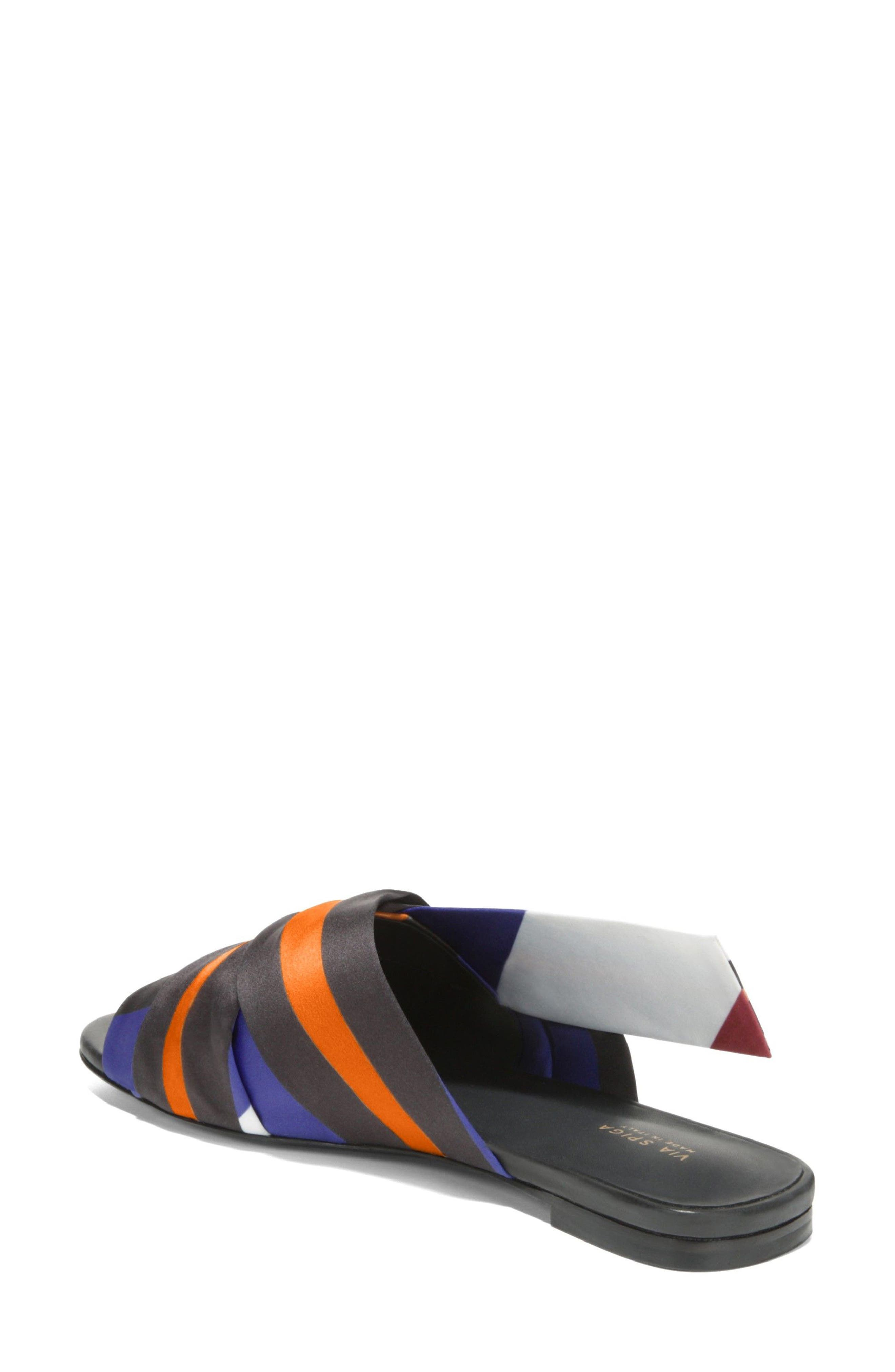 Halina Slide Sandal,                             Alternate thumbnail 2, color,                             Sapphire/ Wine Fabric