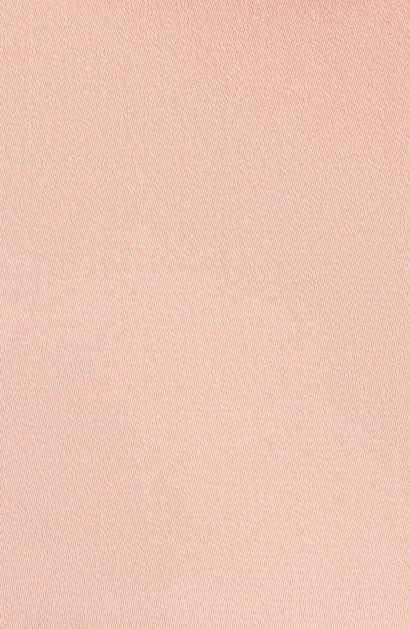 Underwire Bustier Tulip Hem Dress,                             Alternate thumbnail 5, color,                             Dusty Pink
