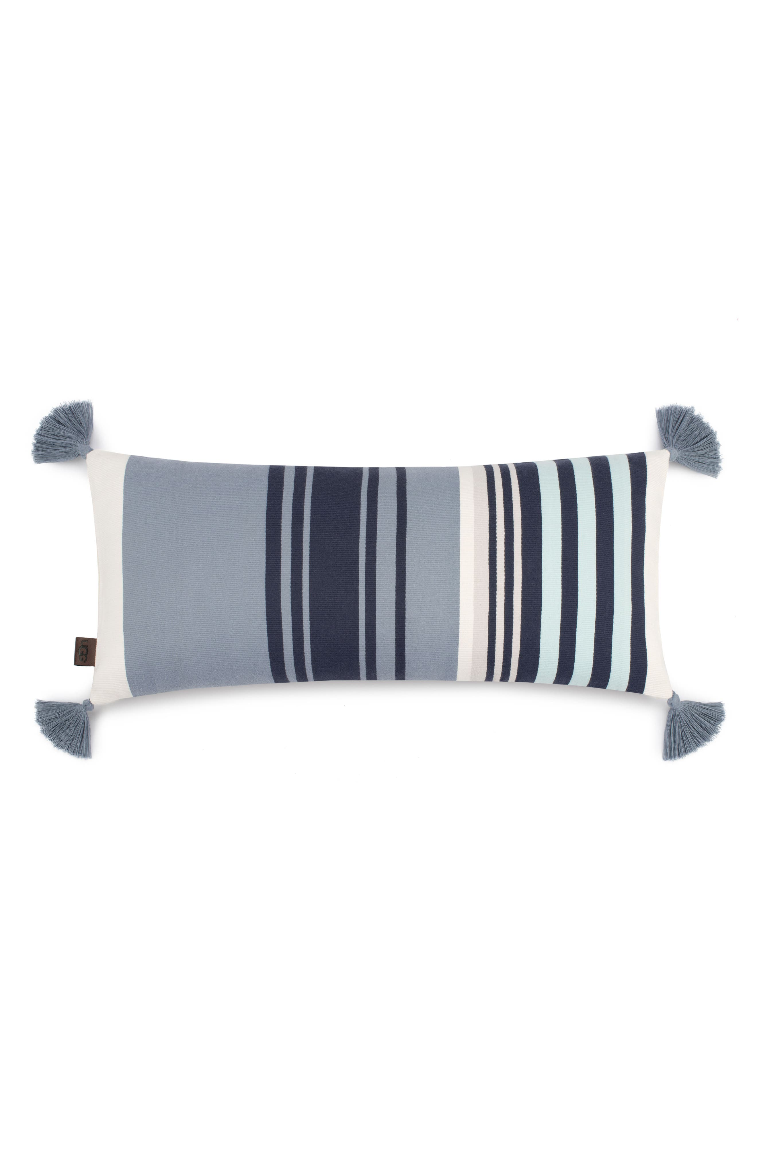 Hammond Stripe Pillow,                         Main,                         color, Blue Multi