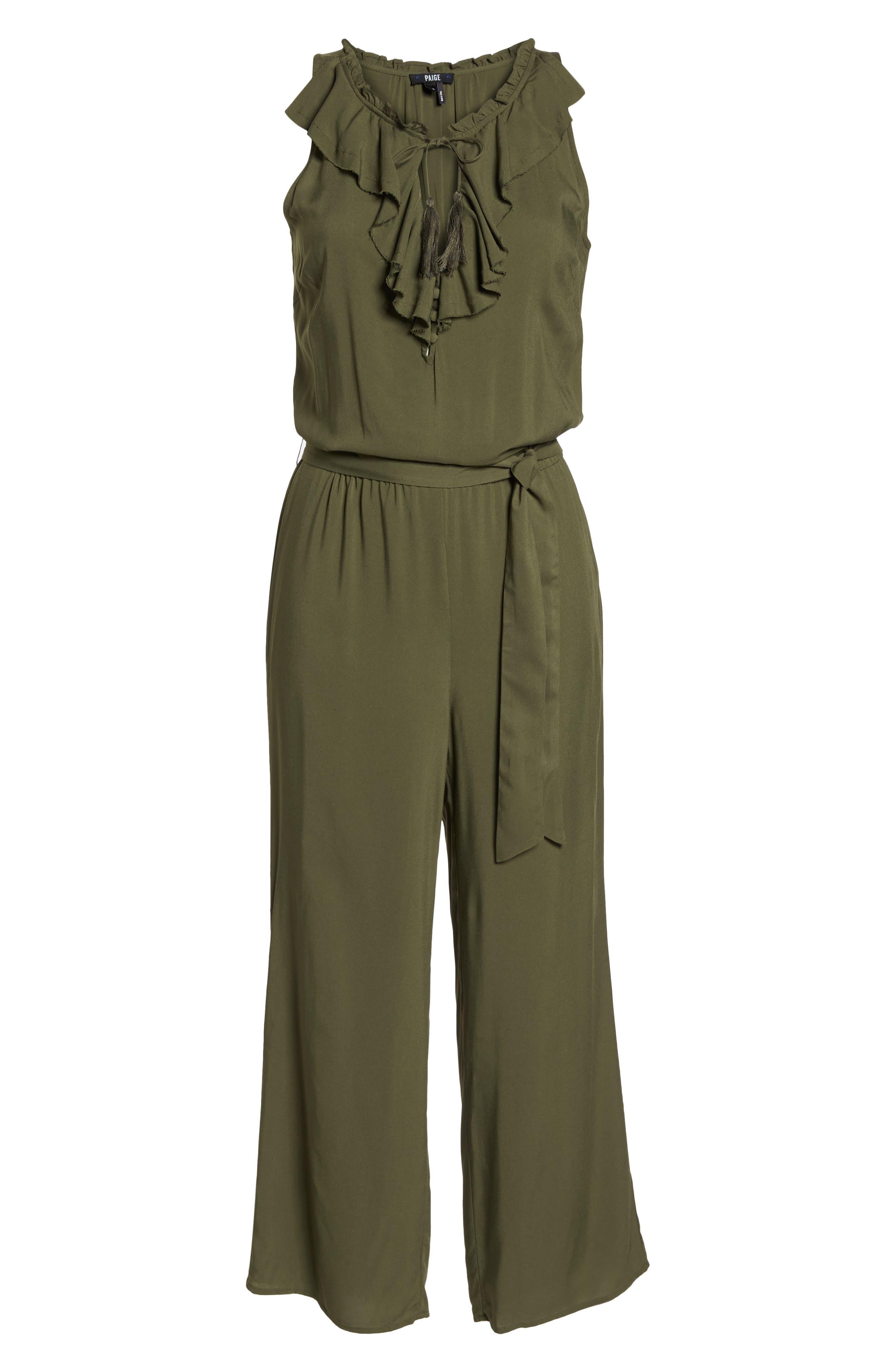 Alternate Image 6  - PAIGE Paletta Tie-Waist Jumpsuit