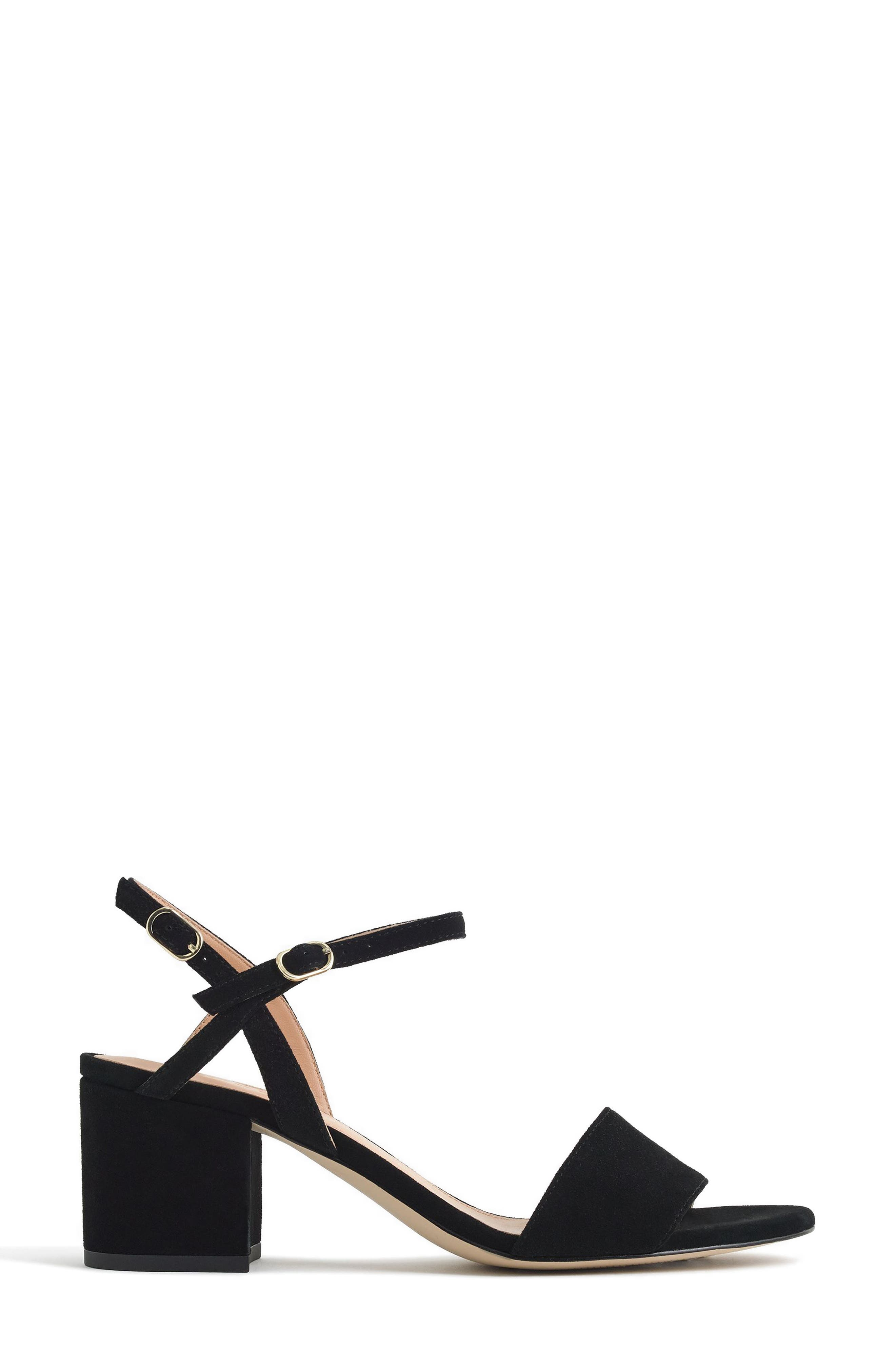 Strappy Block Heel Sandal,                             Alternate thumbnail 2, color,                             Black Leather