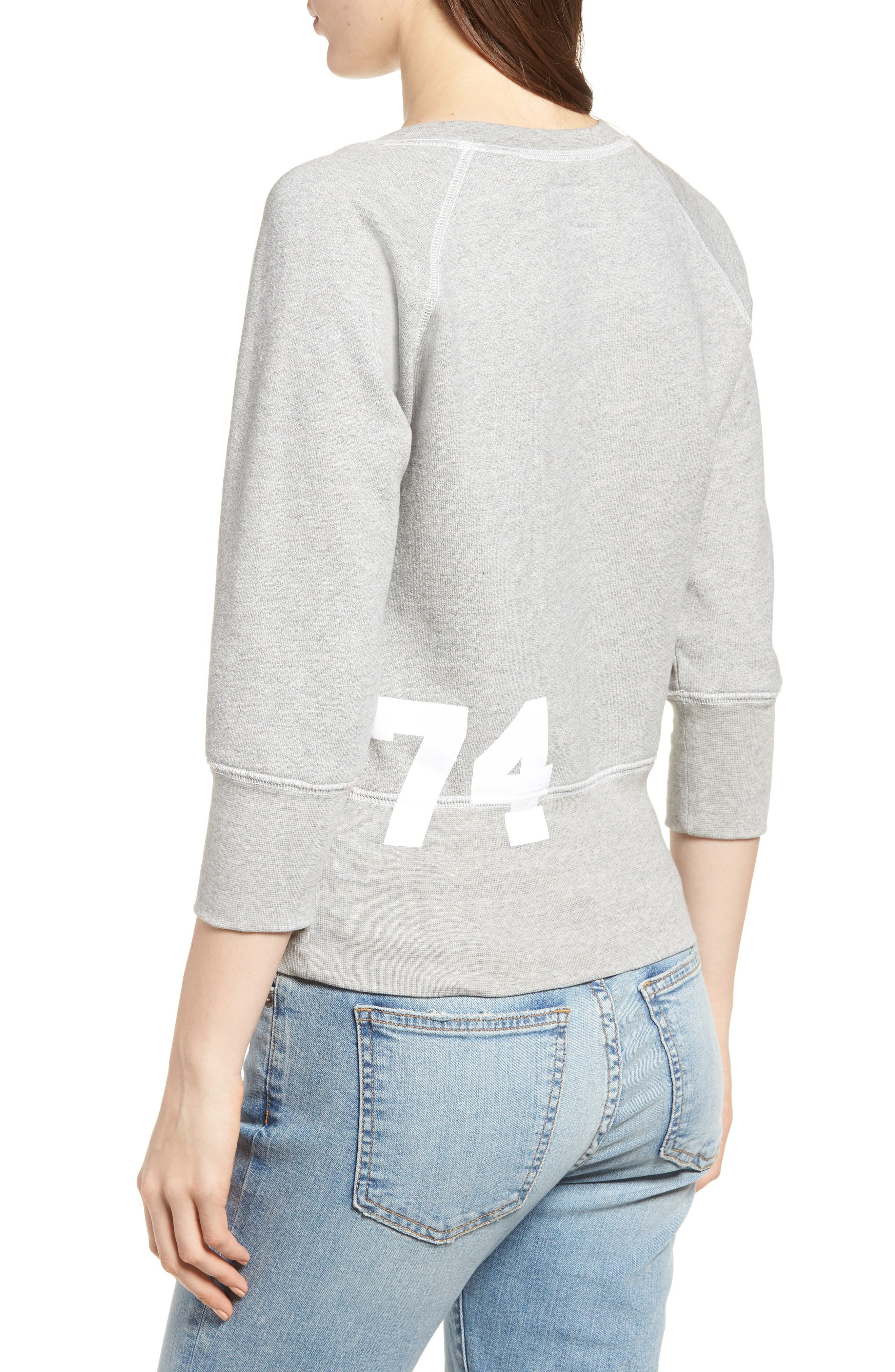The Dallas Sweatshirt,                             Alternate thumbnail 2, color,                             Heather Grey Fleece