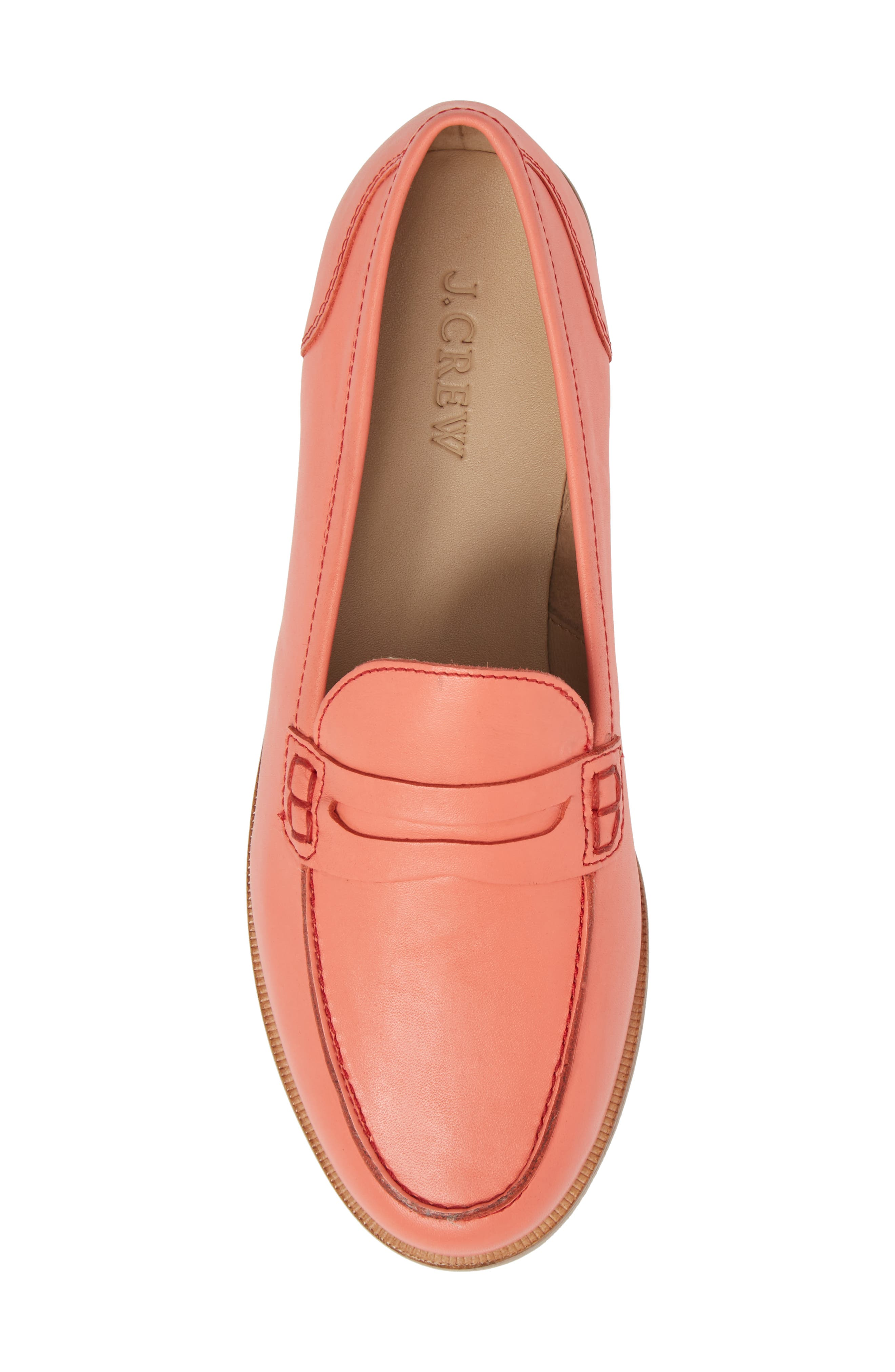 Ryan Penny Loafer,                             Alternate thumbnail 6, color,                             Rust Leather