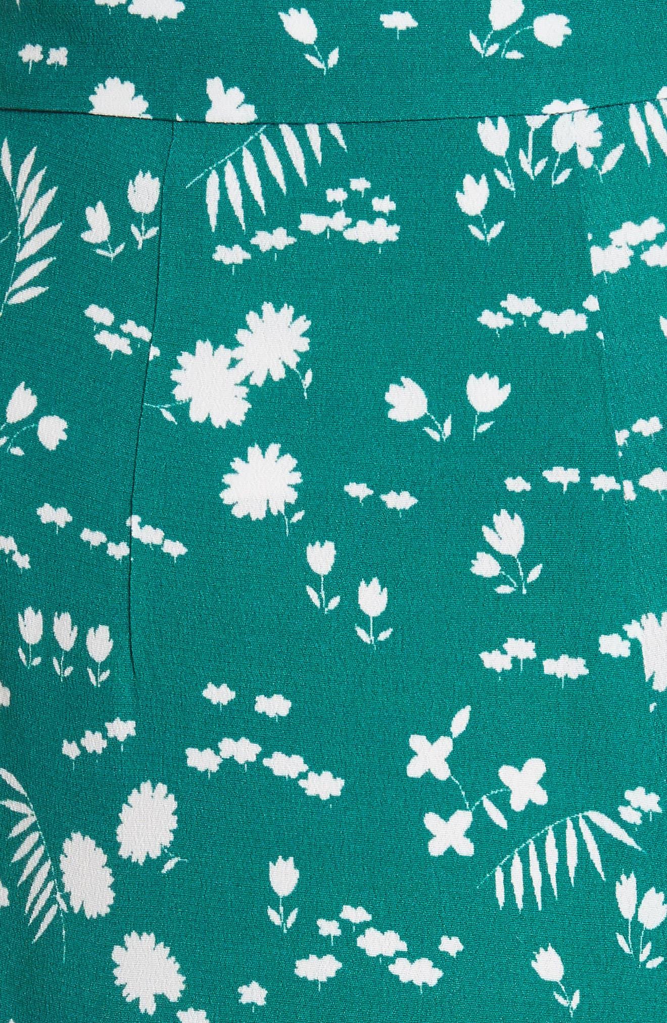 Floral Print Crop Pants,                             Alternate thumbnail 5, color,                             Imprime
