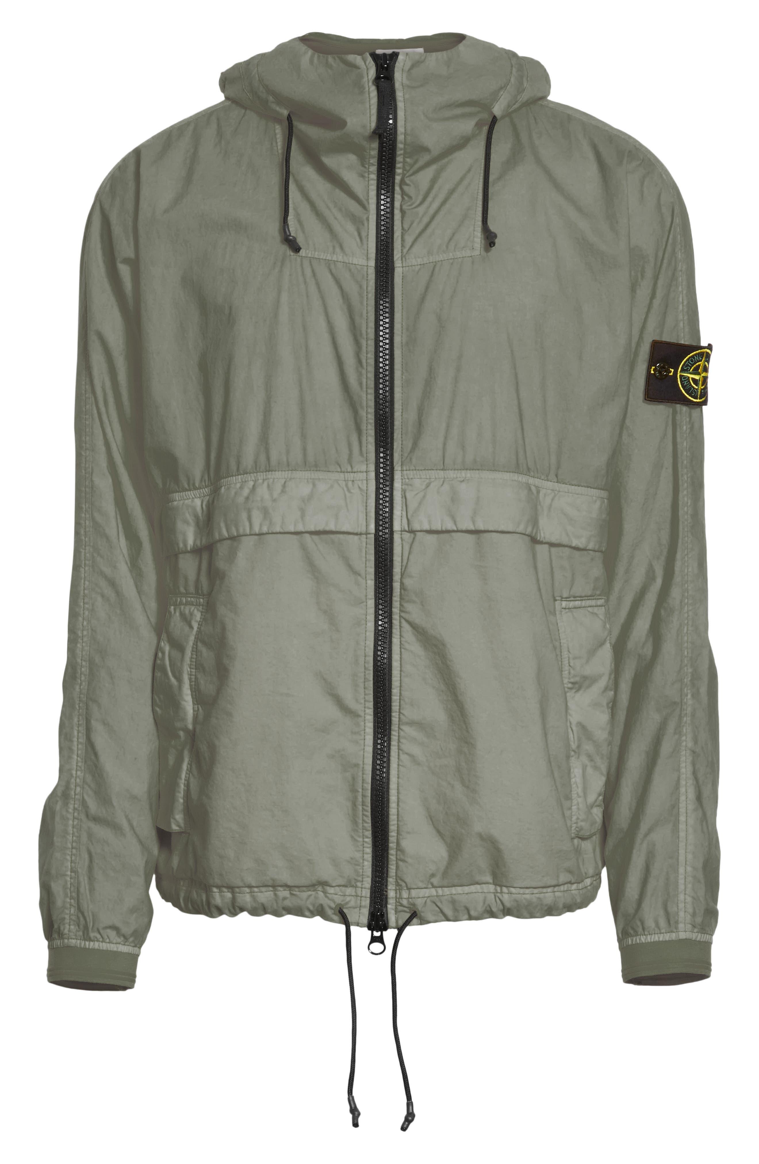 Poplin Hooded Jacket,                             Alternate thumbnail 6, color,                             Green