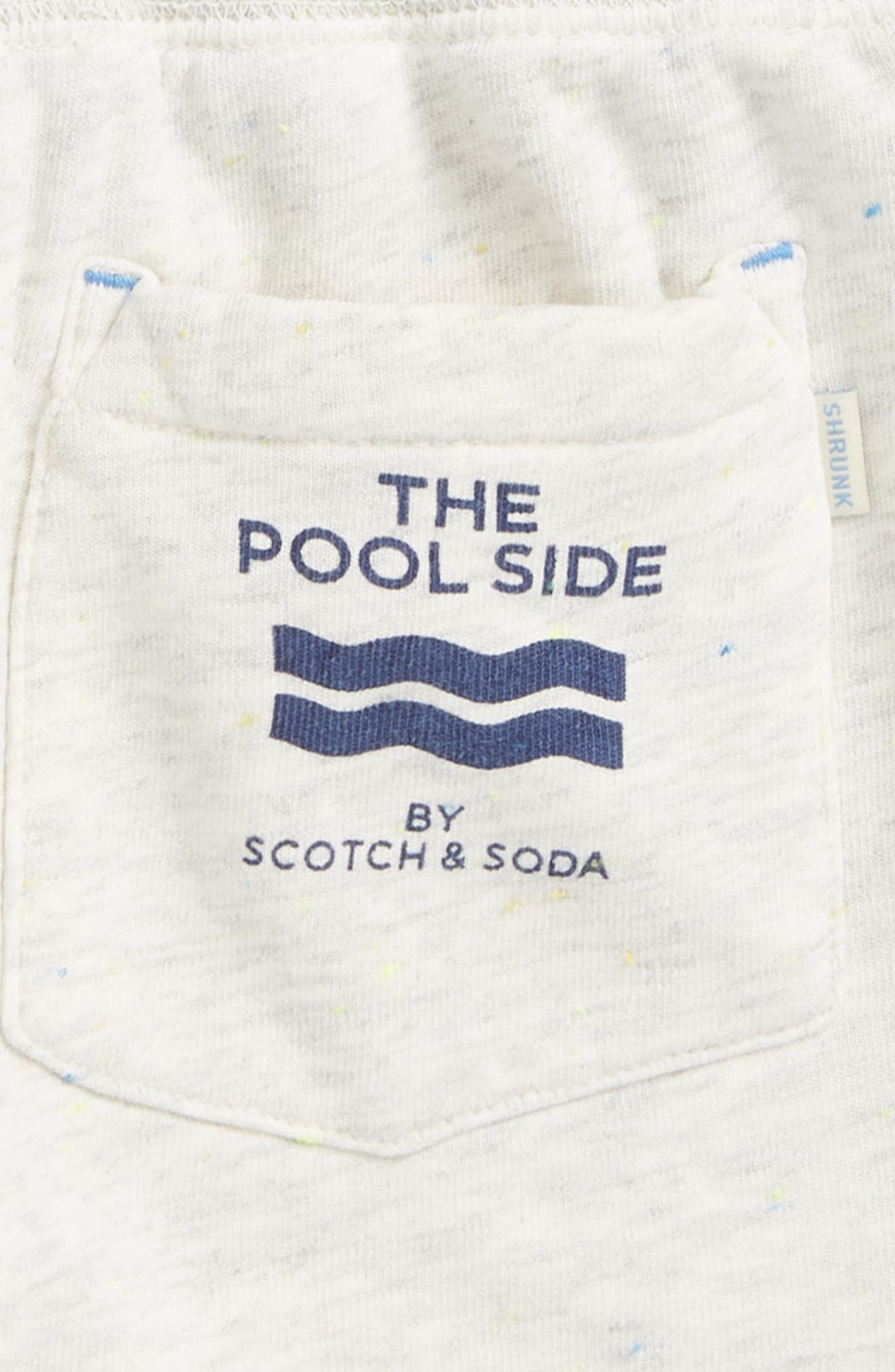 Pool Side Knit Shorts,                             Alternate thumbnail 3, color,                             Ecru