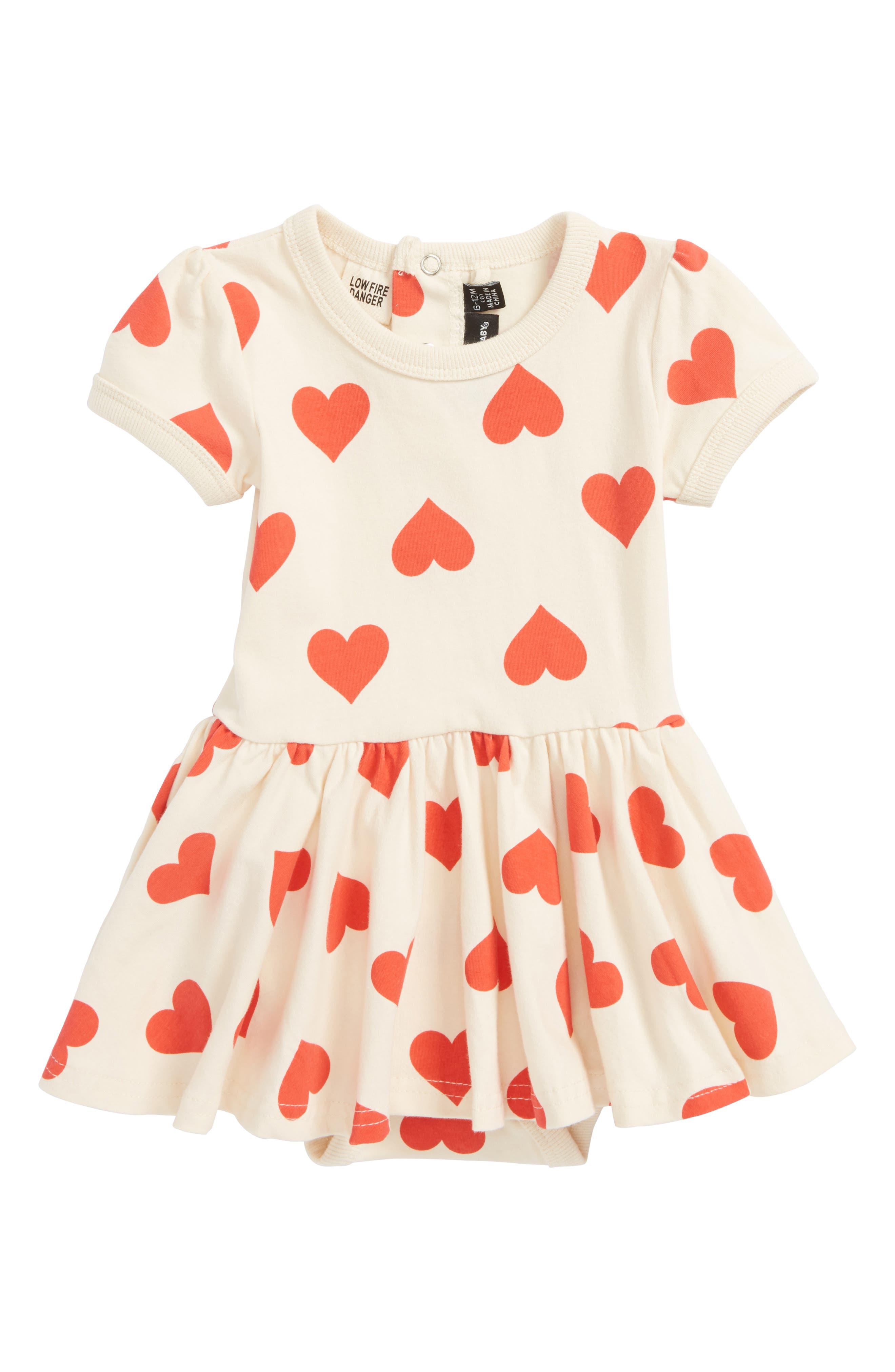 Rock Your Baby Sweetheart Skirted Bodysuit (Baby Girls)