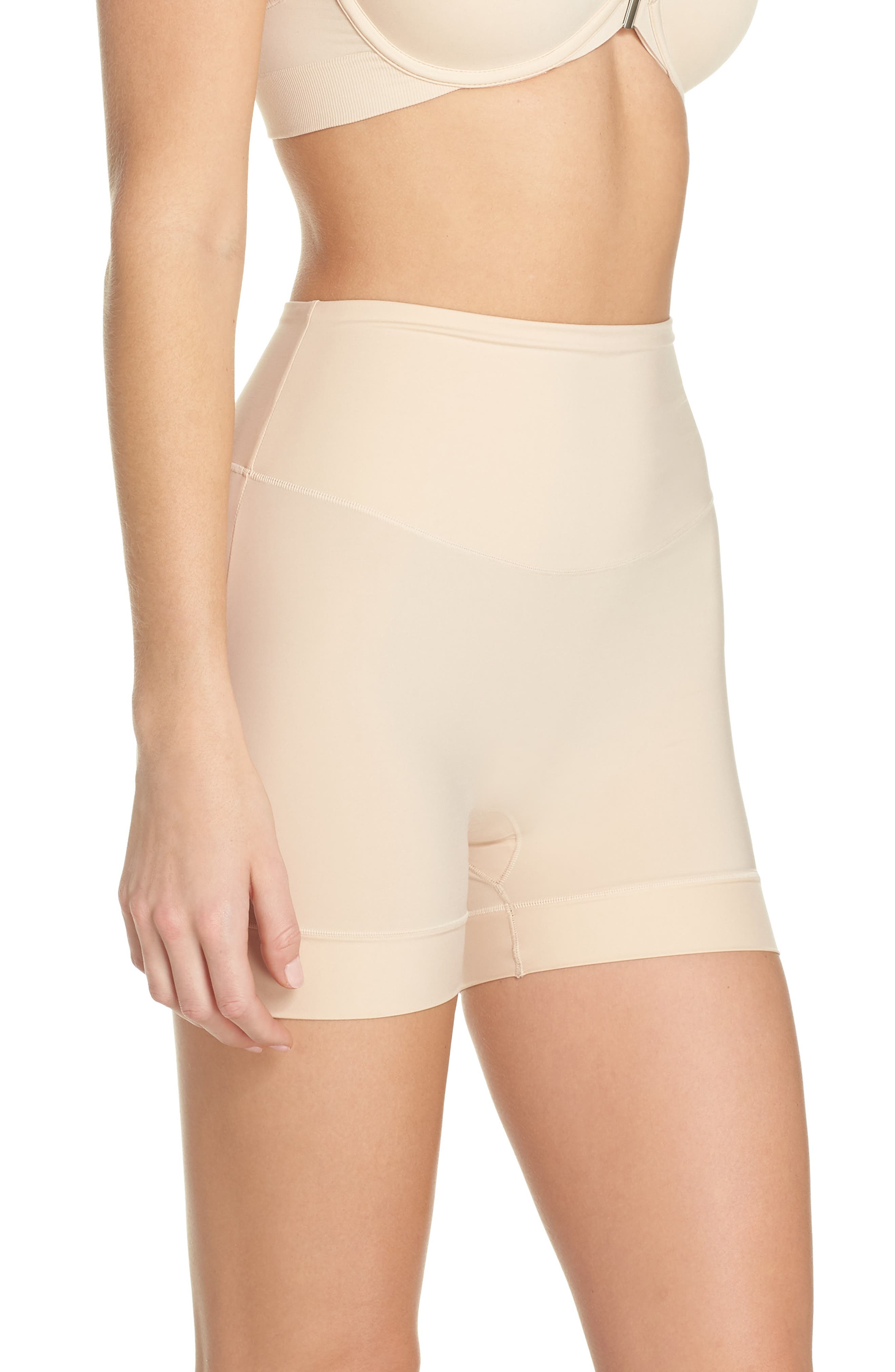 Tummie Tamers Mid Waist Shaping Shorts,                             Alternate thumbnail 3, color,                             Frappe