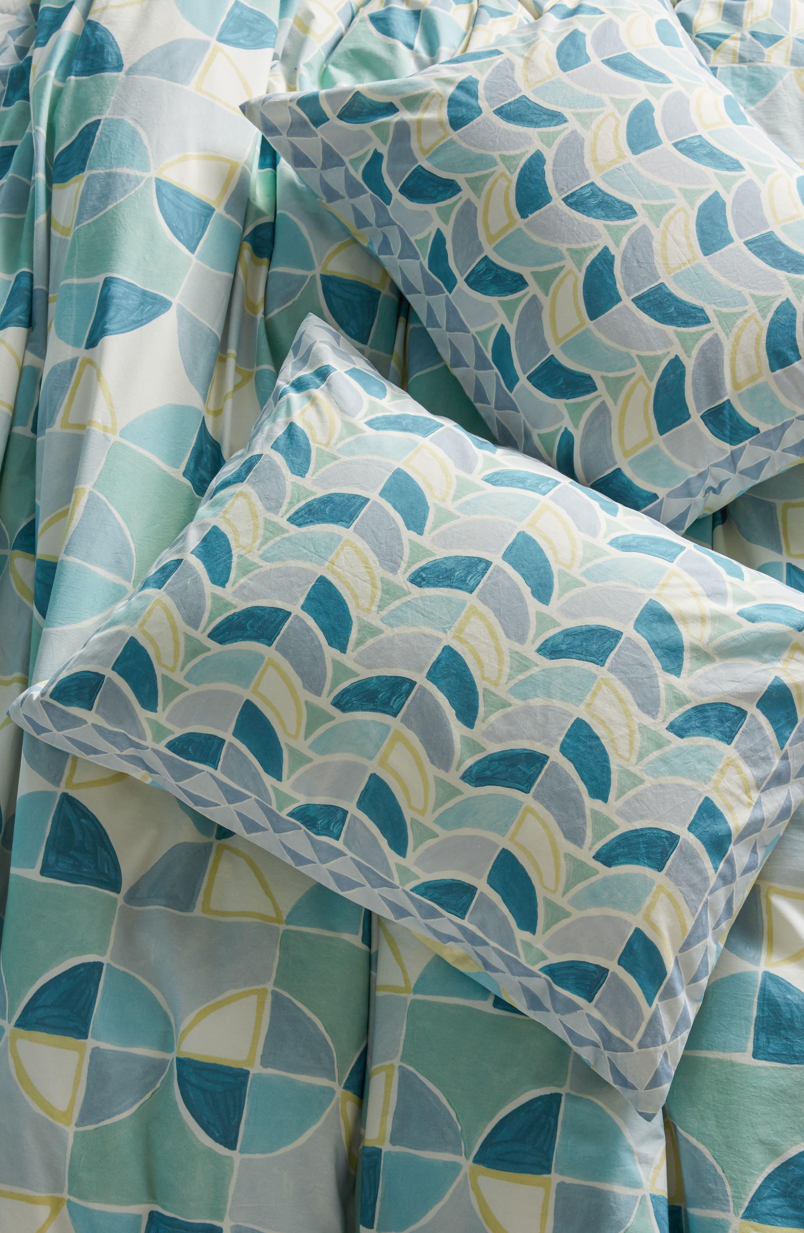 Rayne Pillow Shams,                             Main thumbnail 1, color,                             Blue Combo