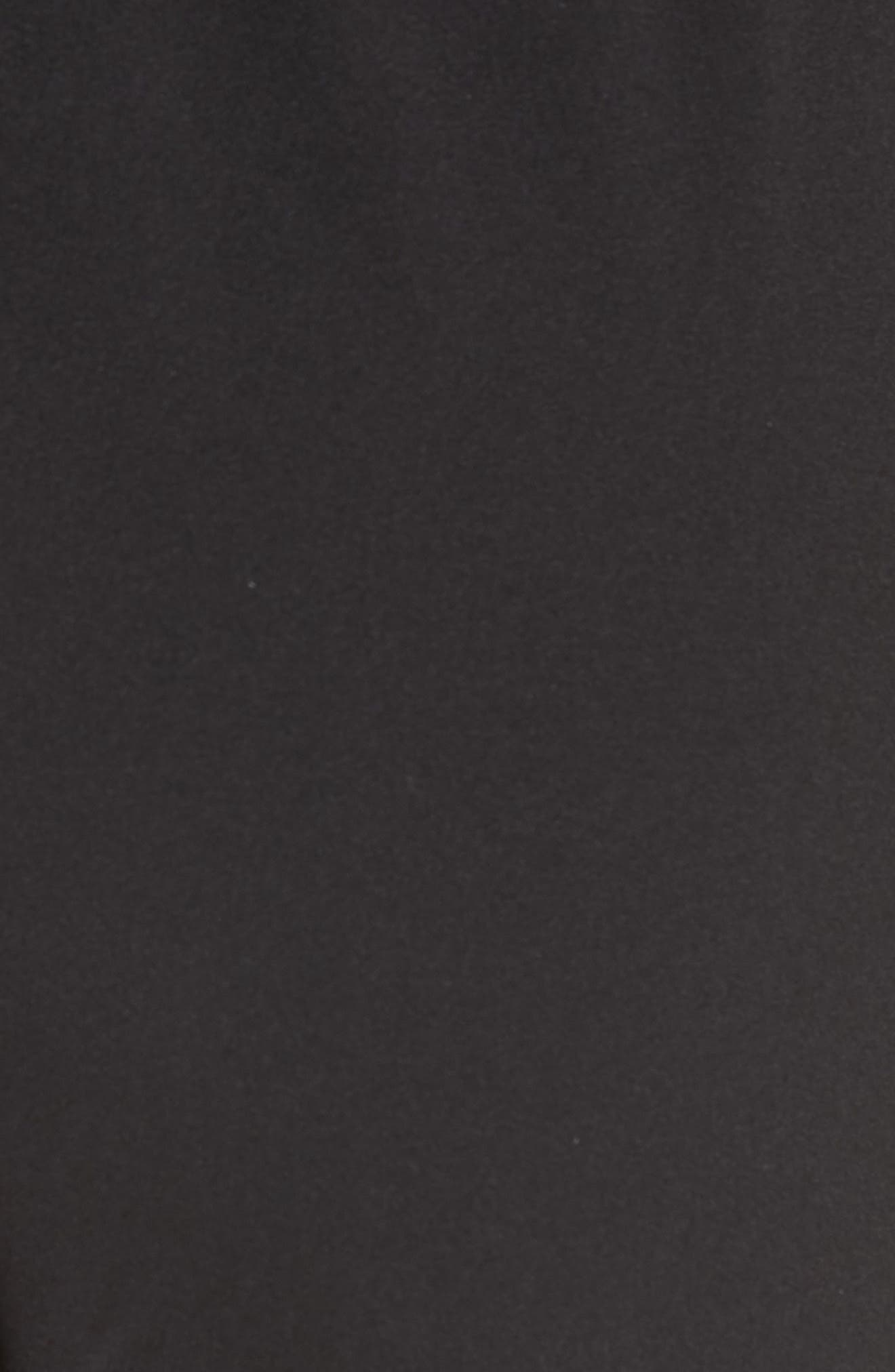 Structured Crepe Jogger Pants,                             Alternate thumbnail 6, color,                             Black