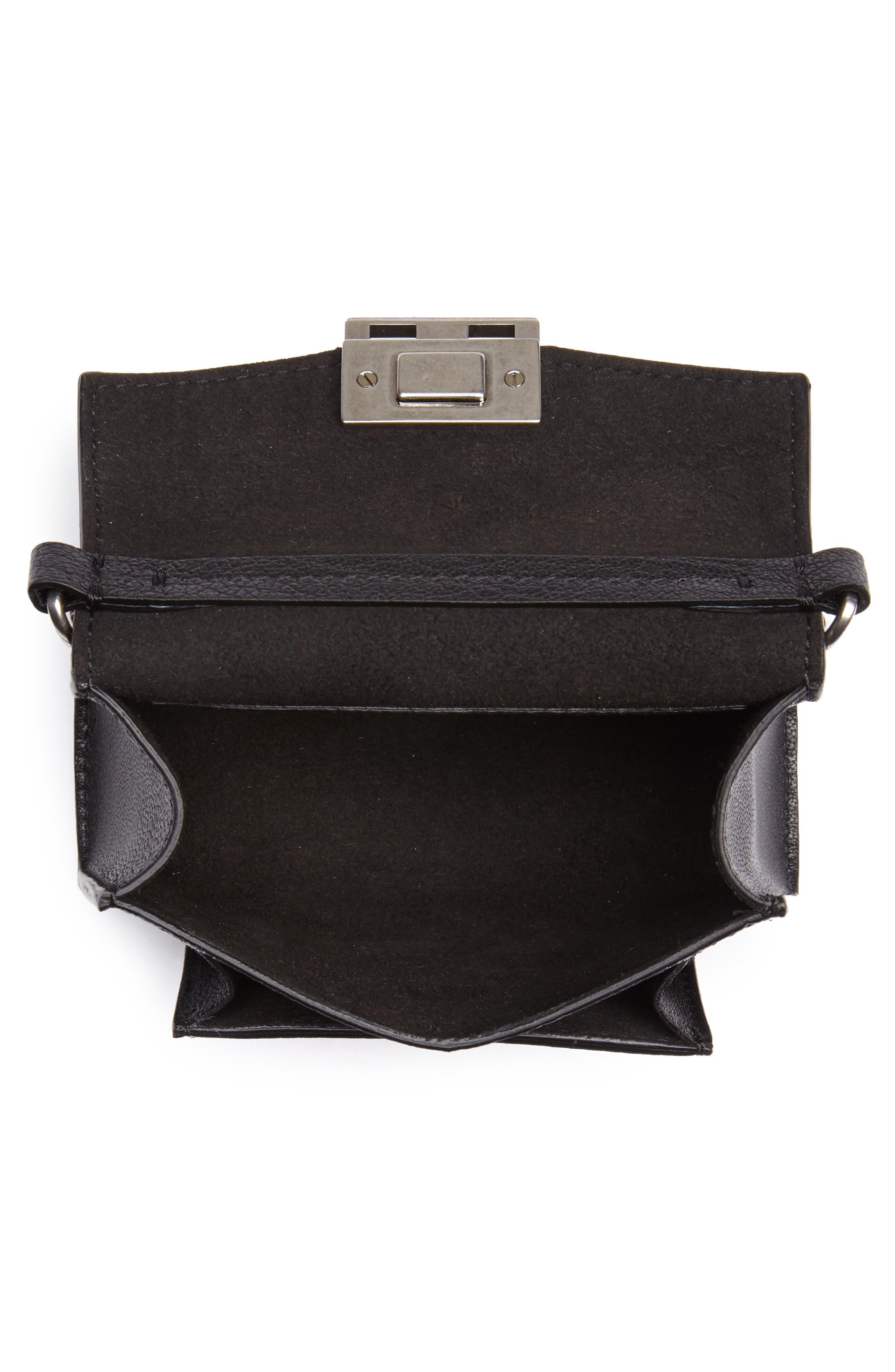 Nano GV3 Leather Crossbody Bag,                             Alternate thumbnail 4, color,                             Black