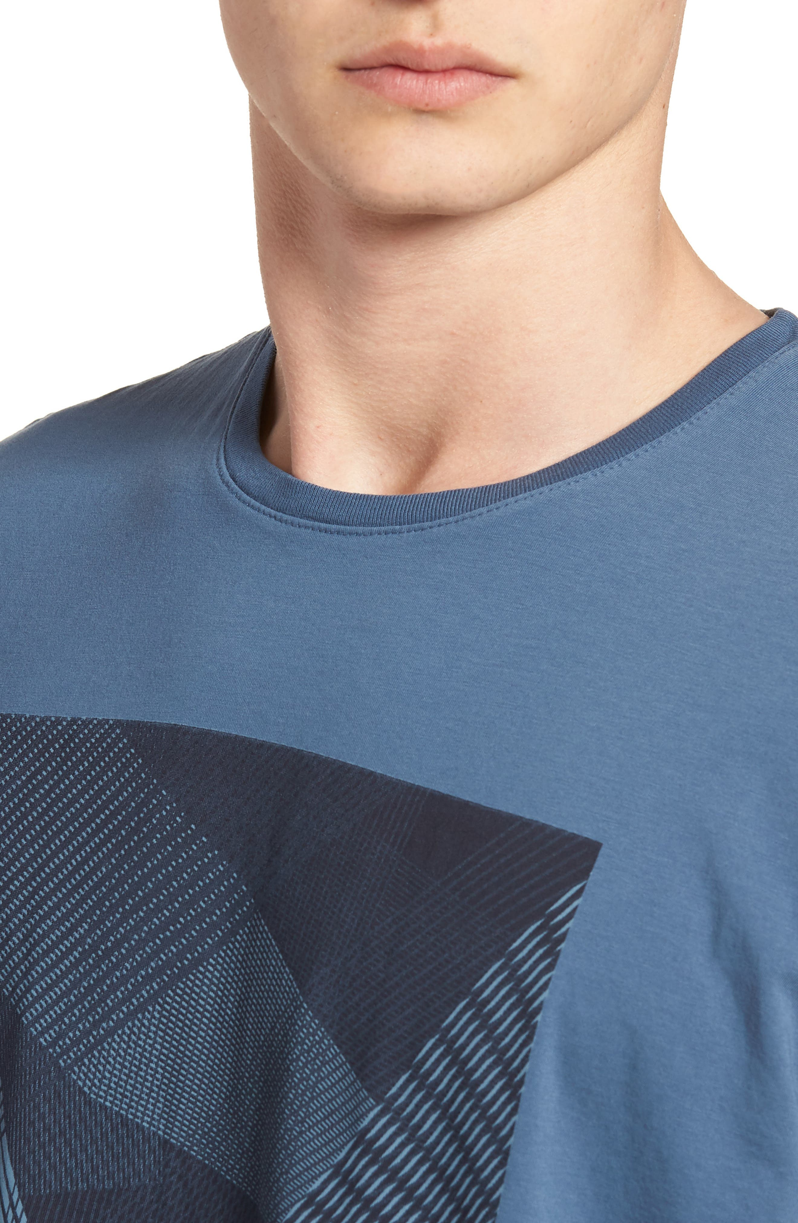 Line Matrix Graphic T-Shirt,                             Alternate thumbnail 3, color,                             Navy