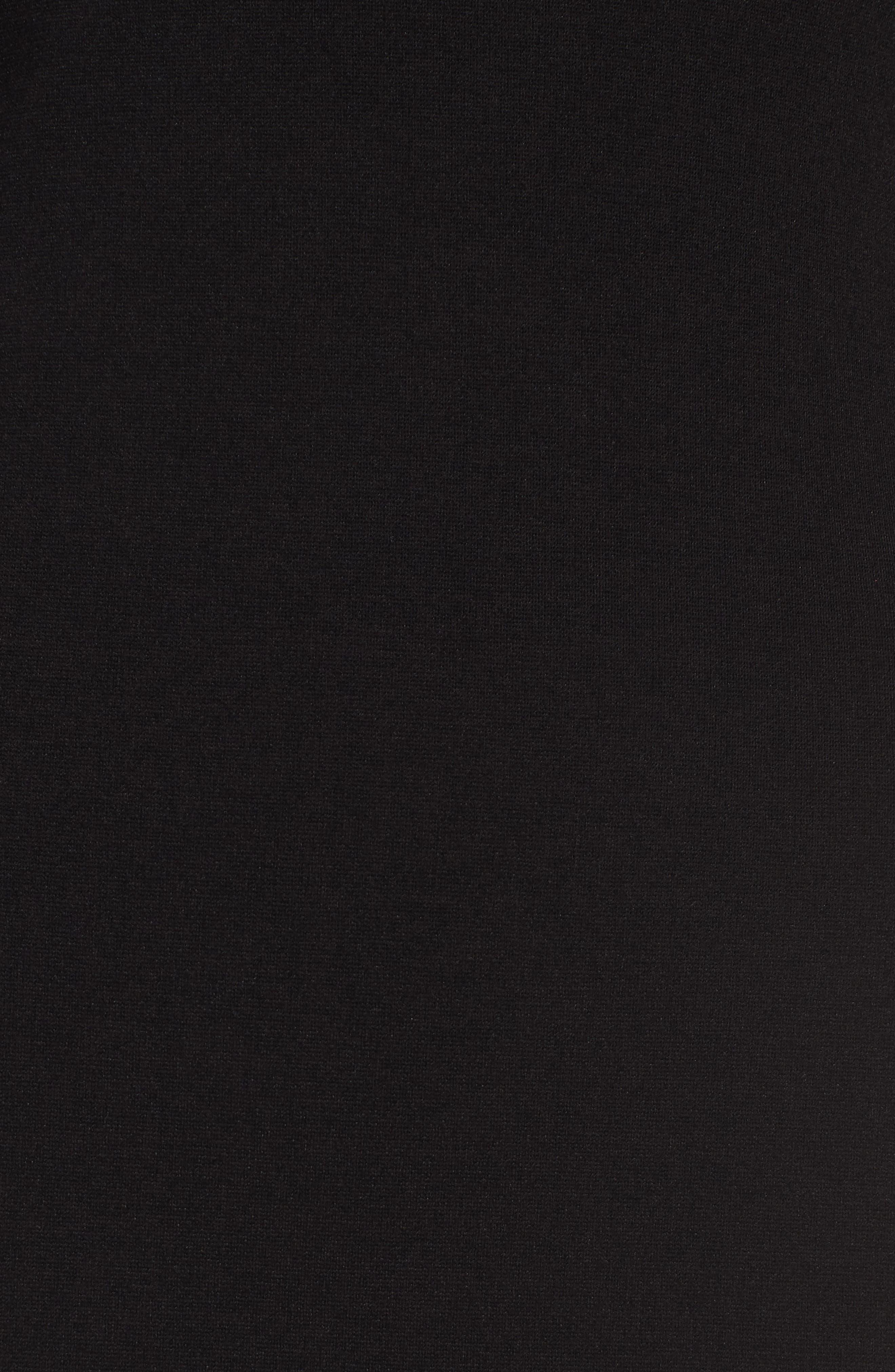 V-Front Bodycon Dress,                             Alternate thumbnail 6, color,                             Black