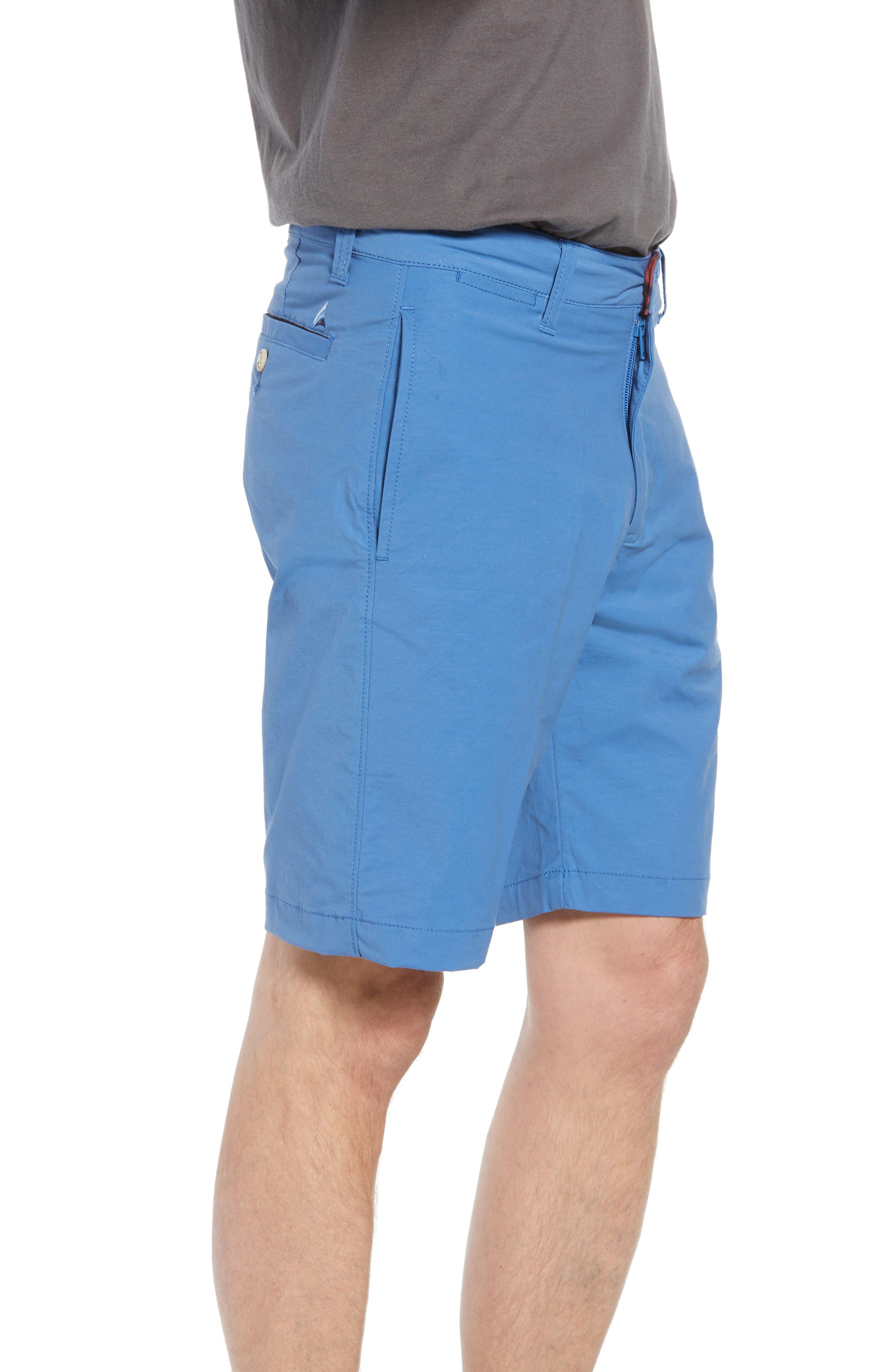 Stretch Cotton Blend Shorts,                             Alternate thumbnail 3, color,                             Delft