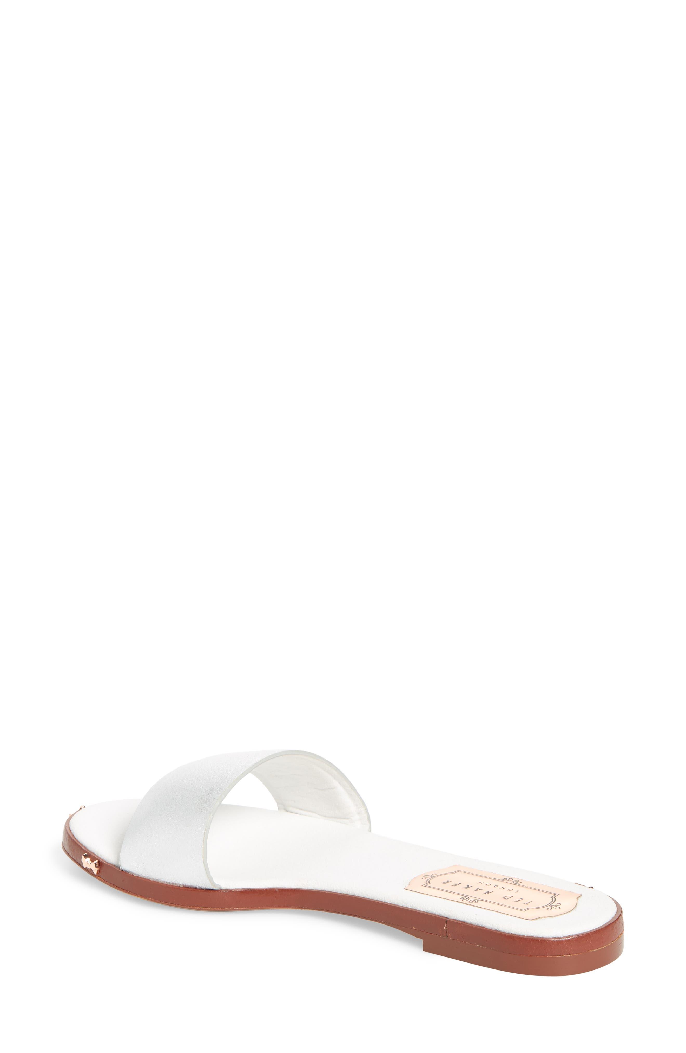 Kytti Slide Sandal,                             Alternate thumbnail 2, color,                             Silver Leather