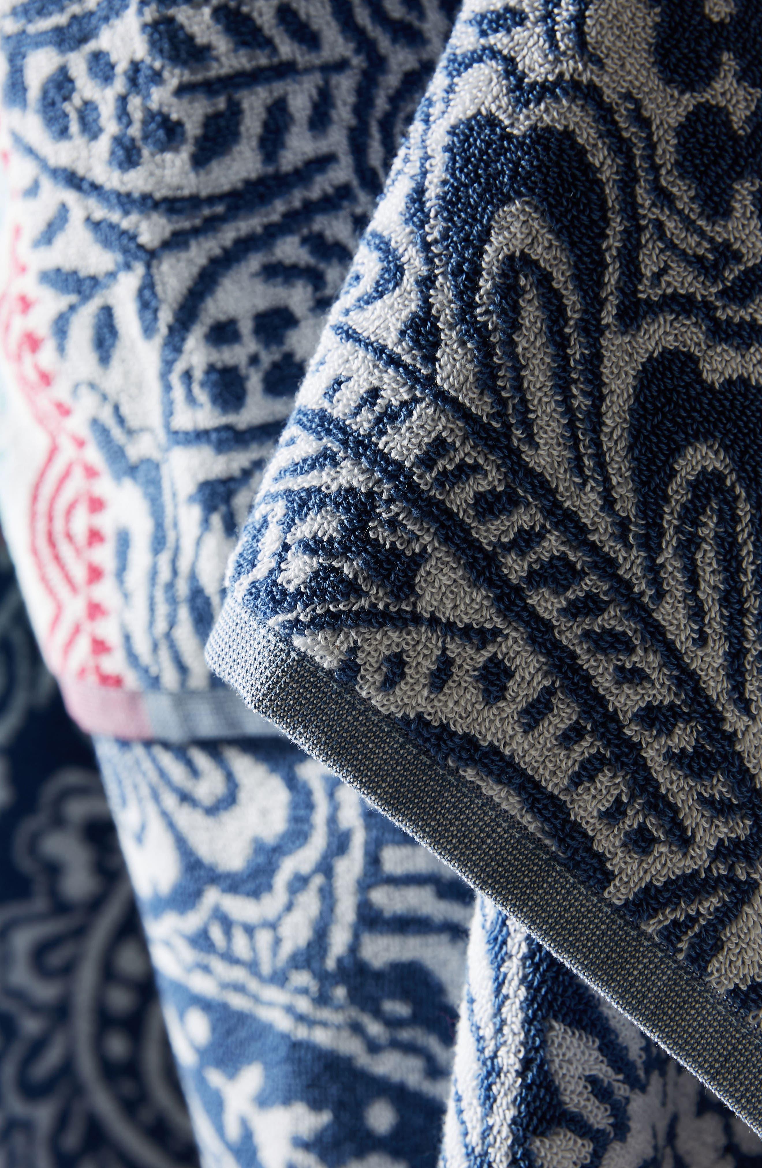 Paisley Beach Towel,                             Alternate thumbnail 2, color,                             Blue Combo