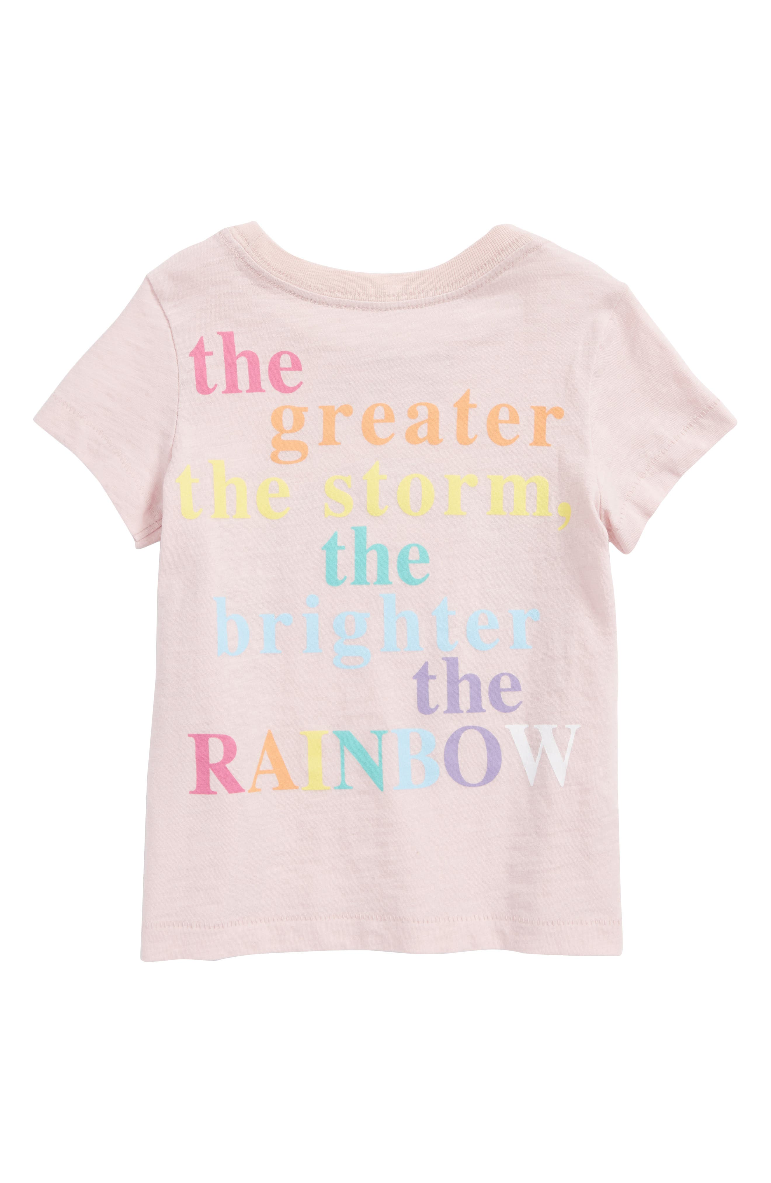 Rainbow Graphic Tee,                             Alternate thumbnail 2, color,                             Light Pink