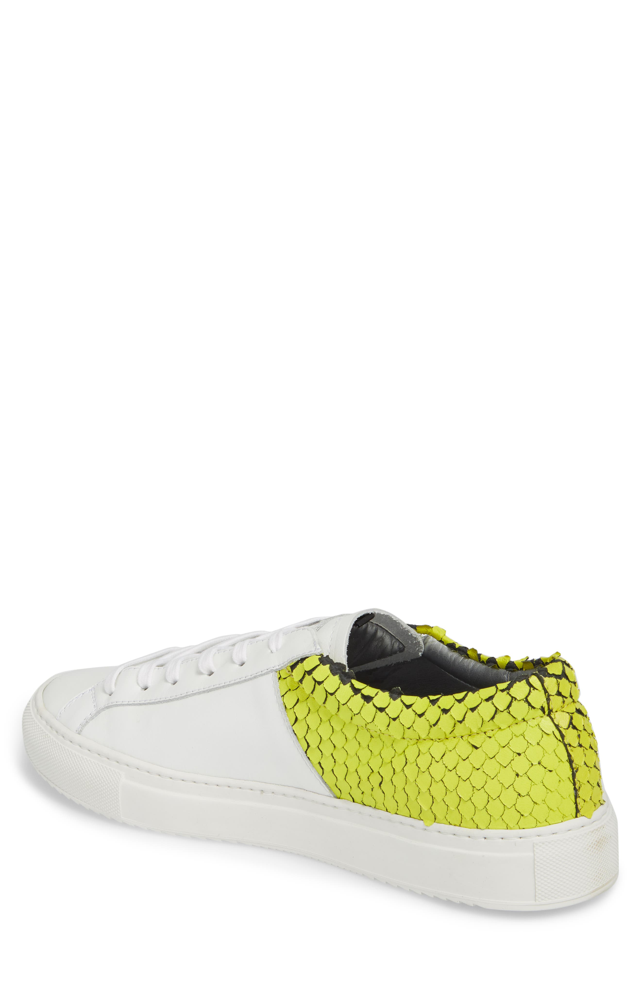 Onec Textured Low Top Sneaker,                             Alternate thumbnail 2, color,                             Python White